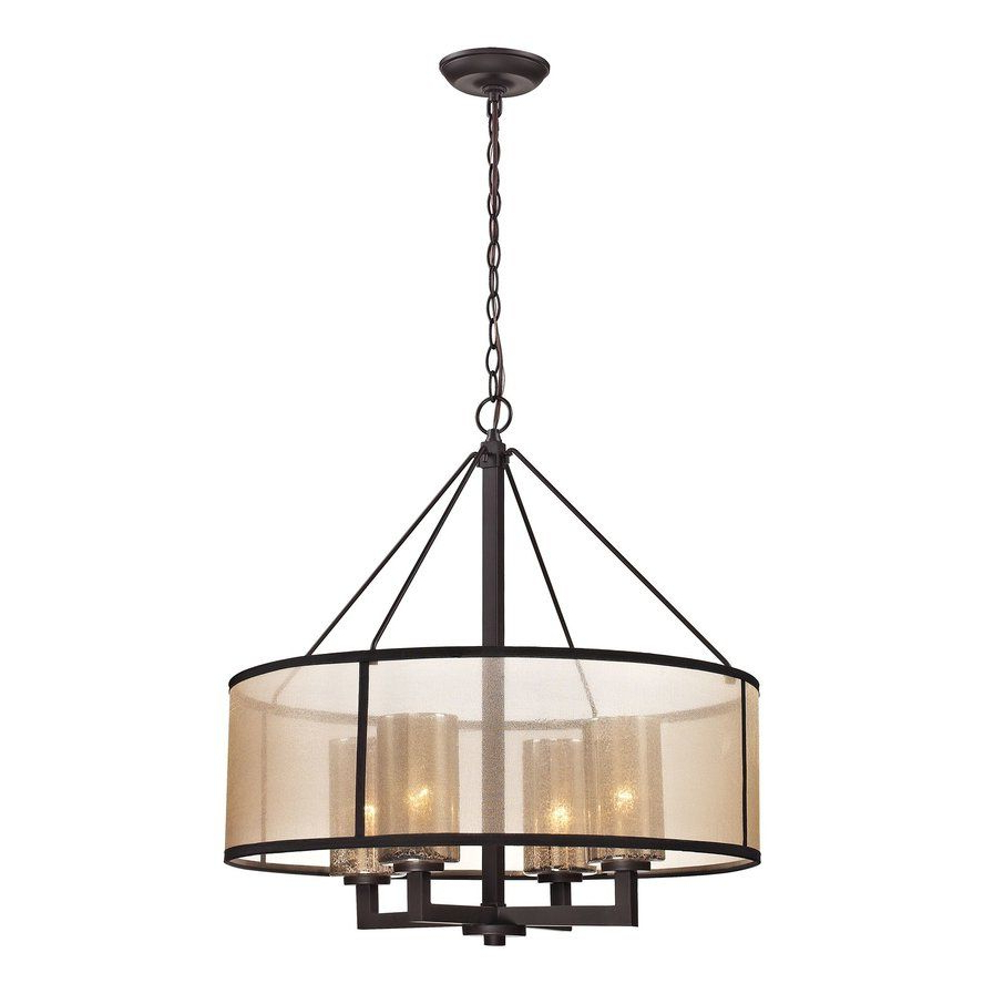 Dailey 4-Light Drum Chandeliers regarding Well known Brayden Studio Dailey 4-Light Drum Chandelier