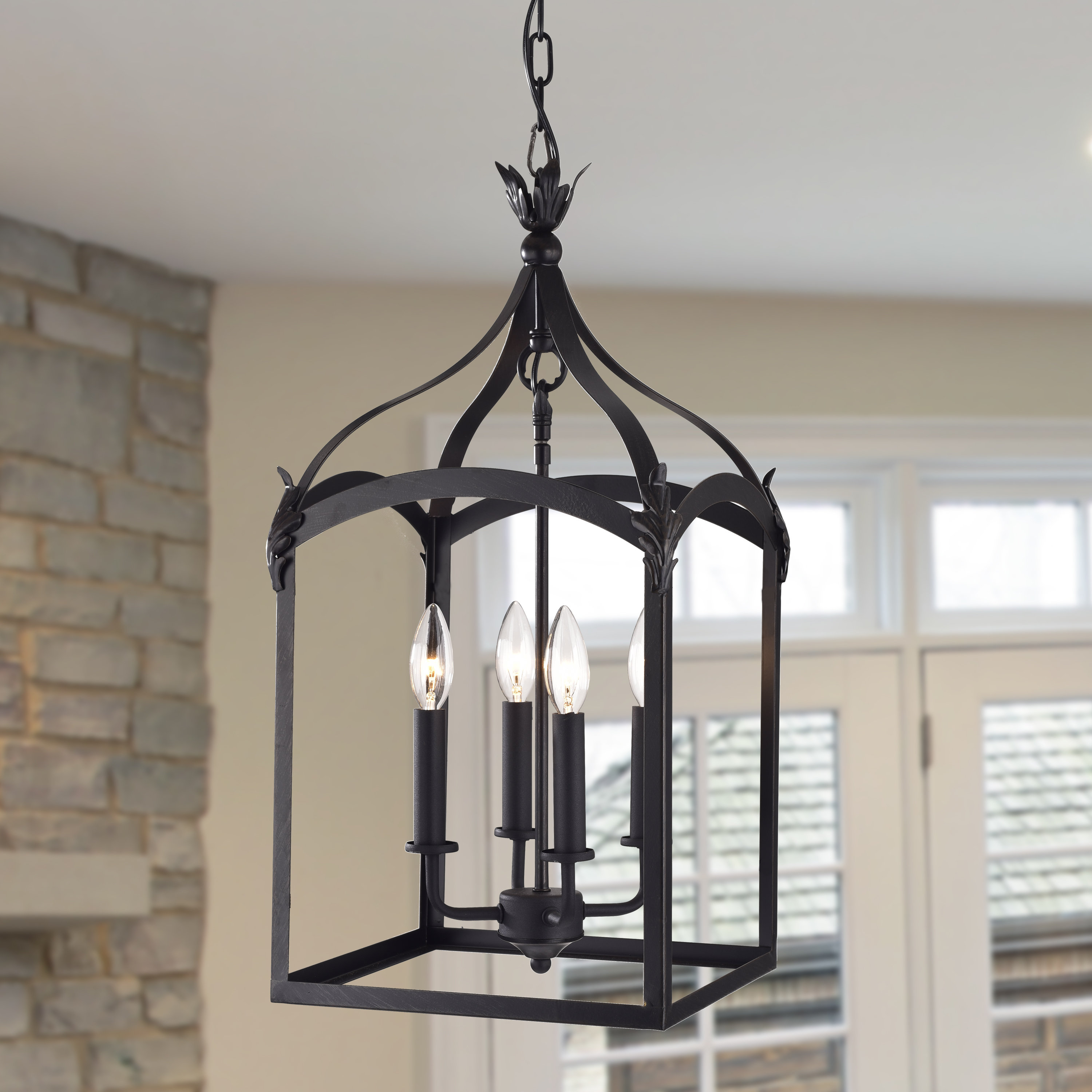 Darby Home Co Forsyth 4 Light Lantern Geometric Pendant With 2019 Nisbet 4 Light Lantern Geometric Pendants (Gallery 7 of 25)