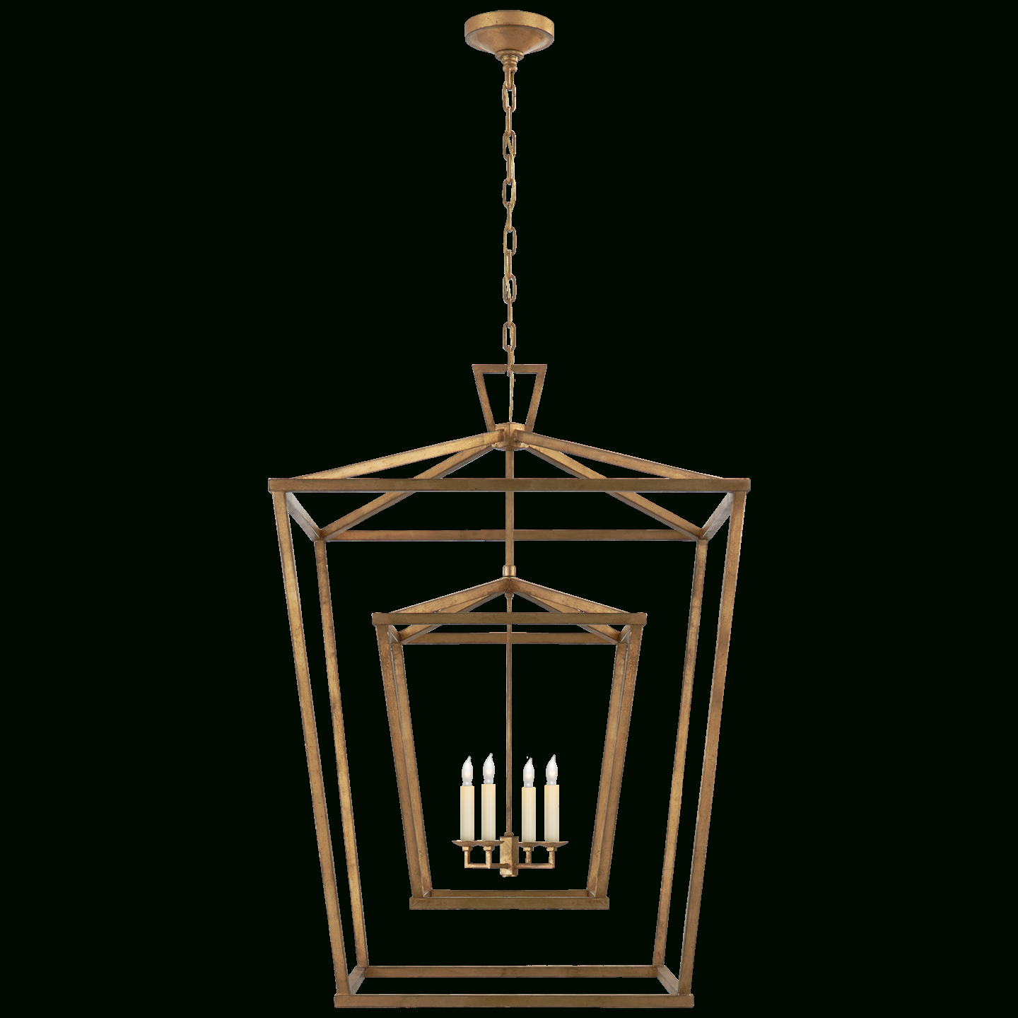 Darlana Extra Large Double Cage Lantern In  (View 23 of 25)