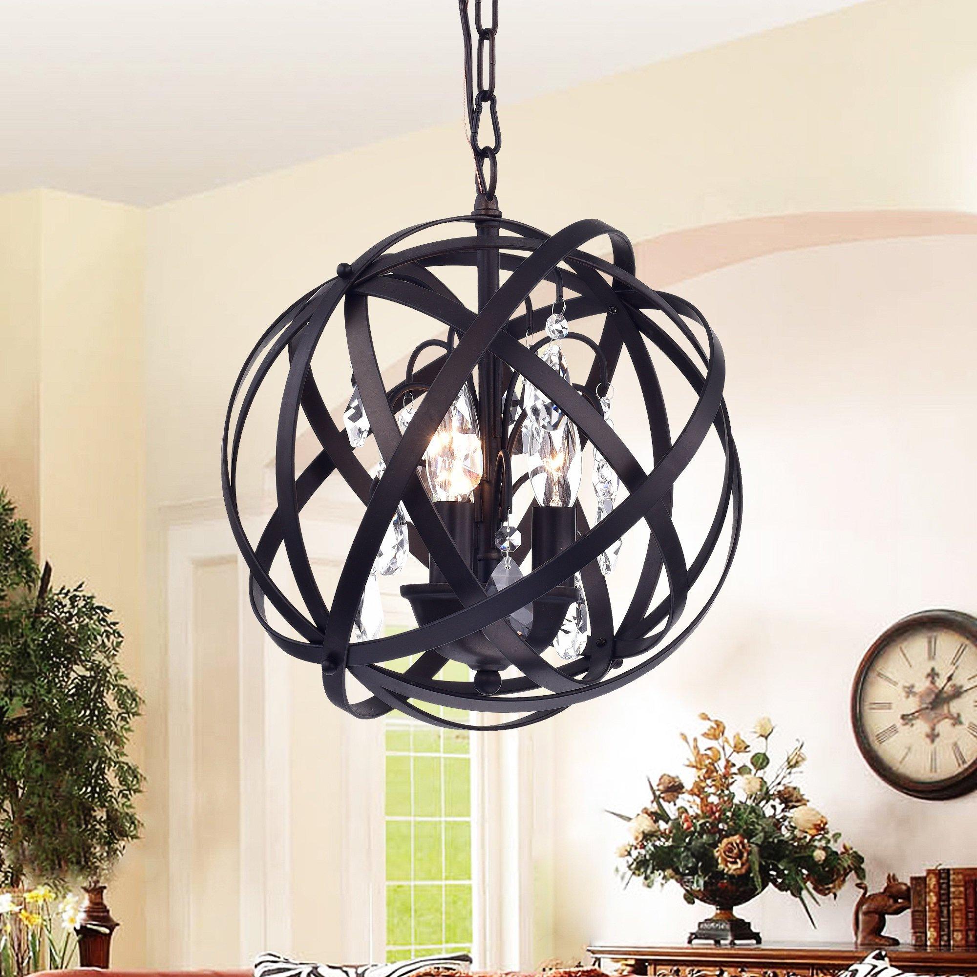 Deadra 3 Light Globe Pendant Intended For Famous Adcock 3 Light Single Globe Pendants (View 14 of 25)