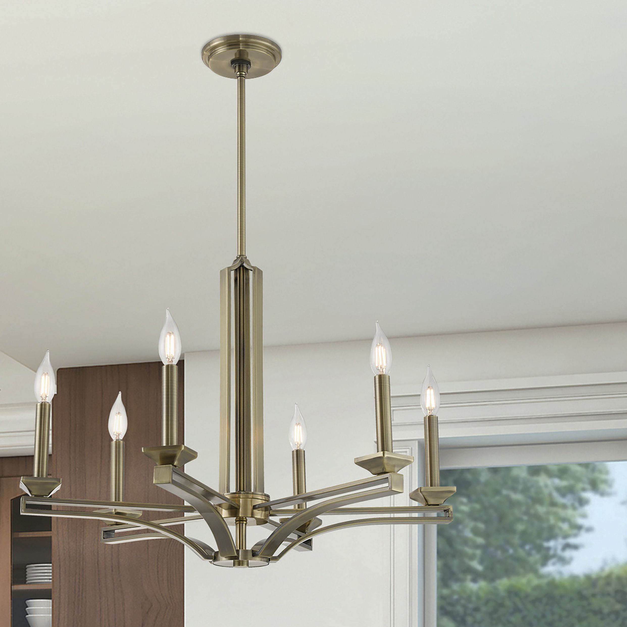 Dedham 6 Light Candle Style Chandelier Throughout Well Known Hesse 5 Light Candle Style Chandeliers (View 15 of 25)