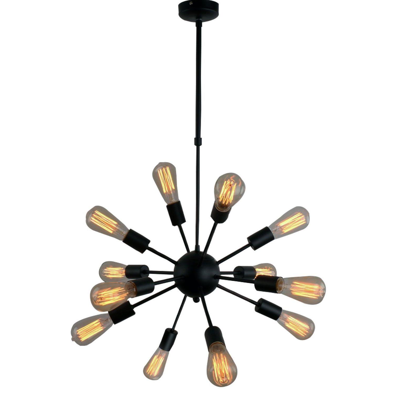 Defreitas 18 Light Sputnik Chandeliers Within Favorite Lamp: Vintage Metal Large Dimmable Sputnik Chandelier With (View 16 of 25)