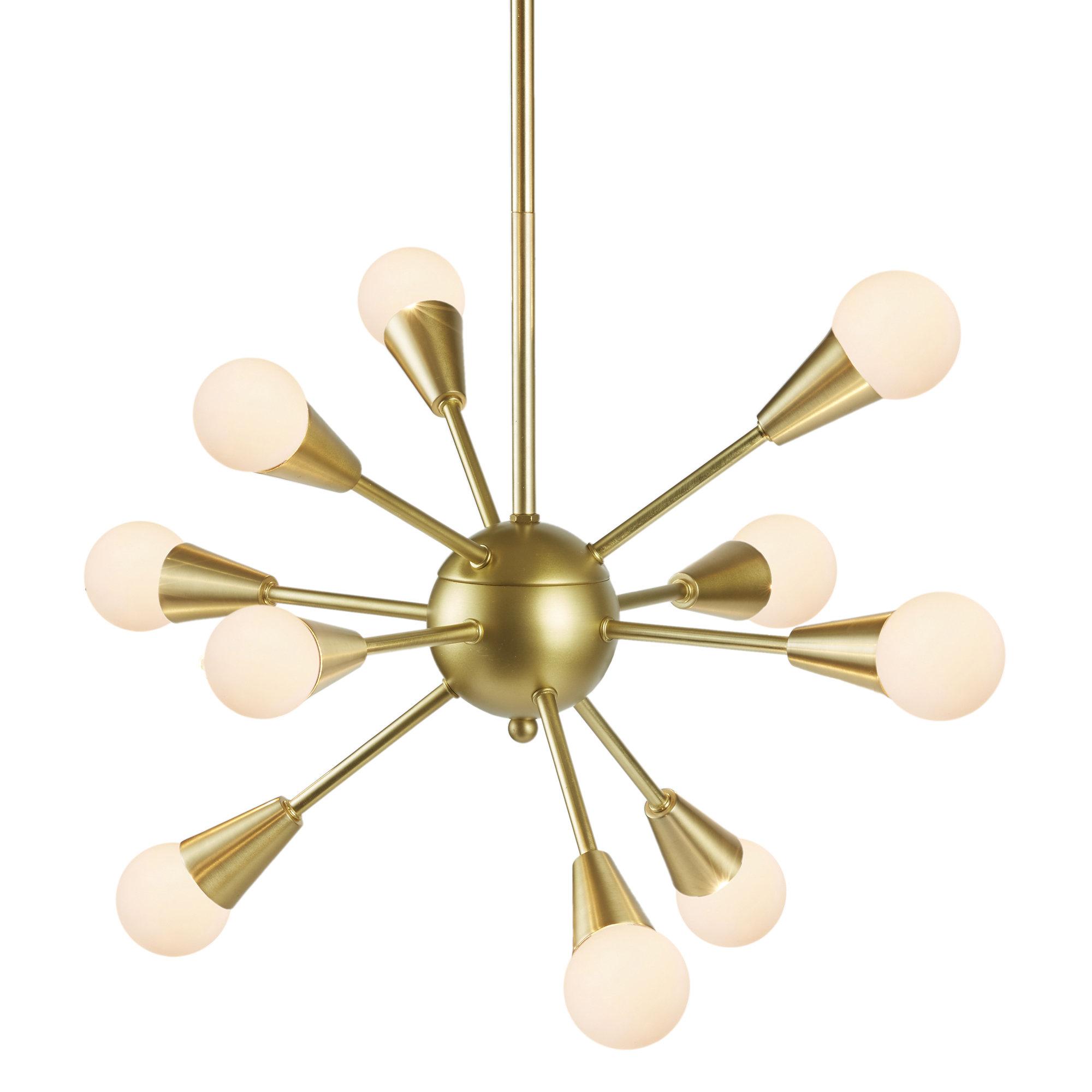 Delavega 10 Light Sputnik Chandelier In Current Defreitas 18 Light Sputnik Chandeliers (View 14 of 25)