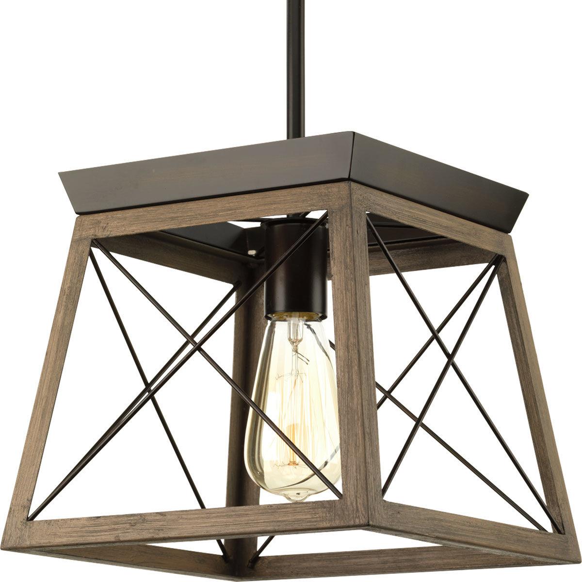 Delon 1 Light Lantern Geometric Pendant With Regard To Fashionable Delon 1 Light Lantern Geometric Pendants (View 4 of 25)