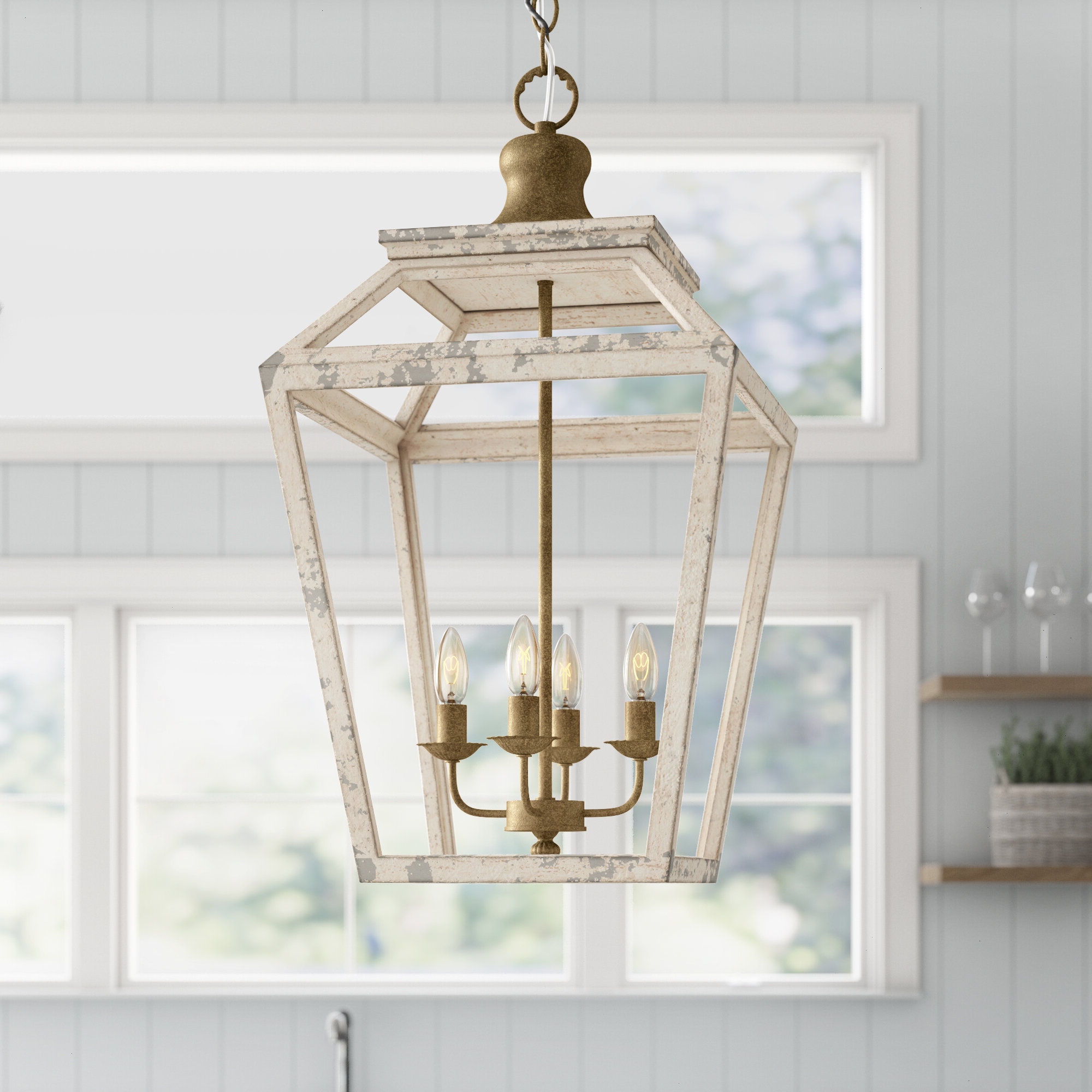 Delon 1-Light Lantern Geometric Pendants for 2019 Baugher 4-Light Lantern Geometric Pendant