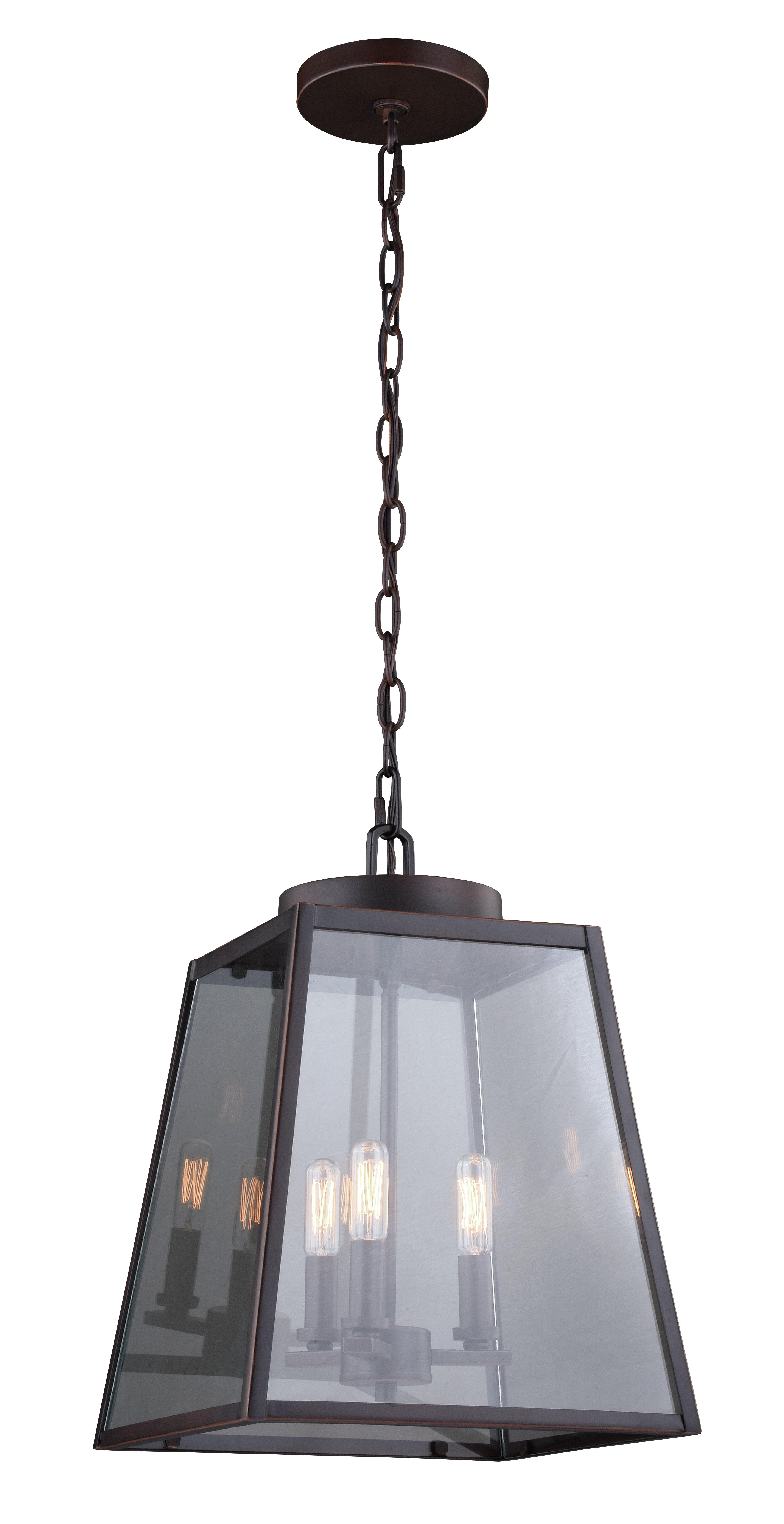 Delon 1 Light Lantern Geometric Pendants Within Favorite Louanne 3 Light Lantern Geometric Pendant & Reviews (Gallery 19 of 25)