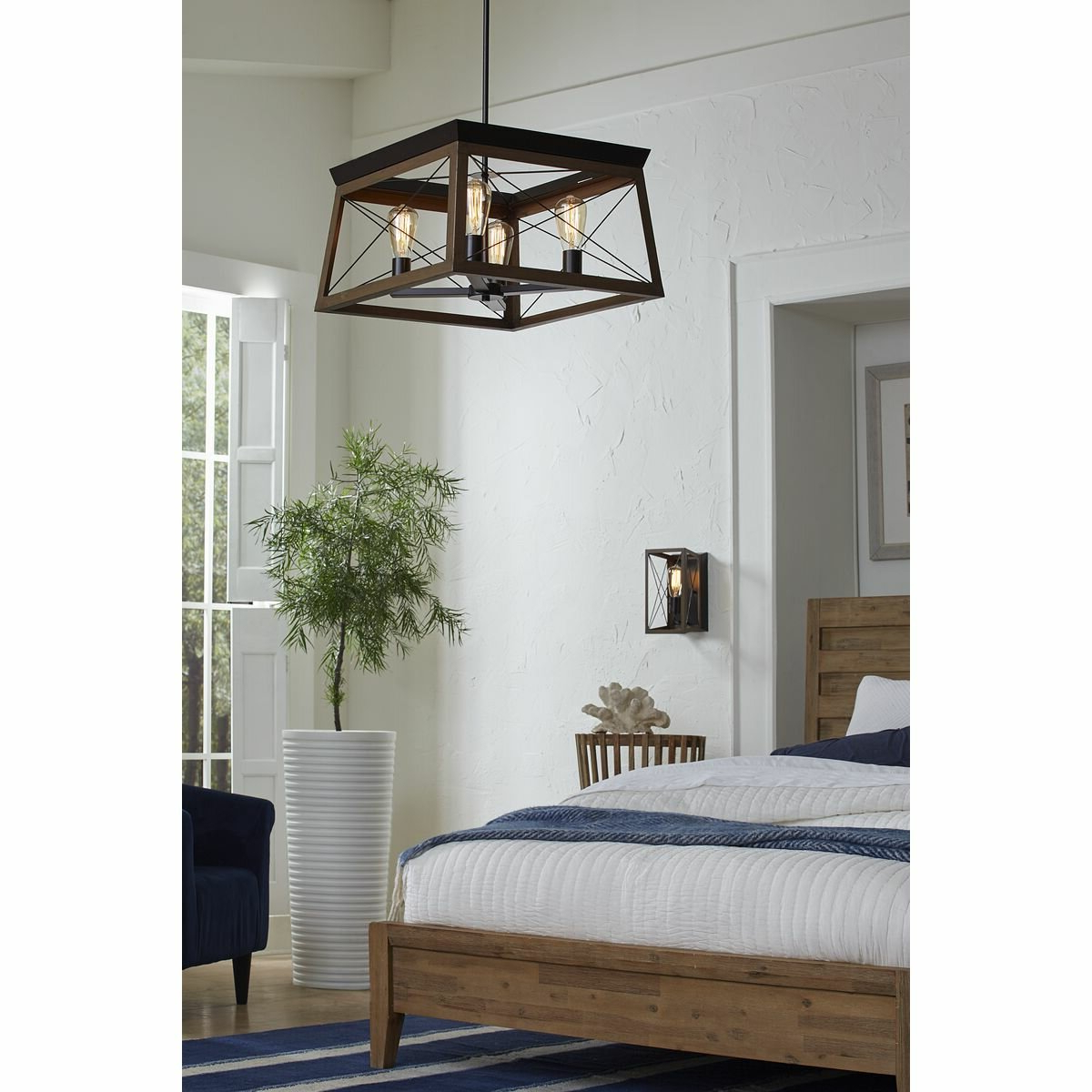 Delon 4-Light Square/rectangle Chandelier pertaining to Fashionable Delon 4-Light Square Chandeliers