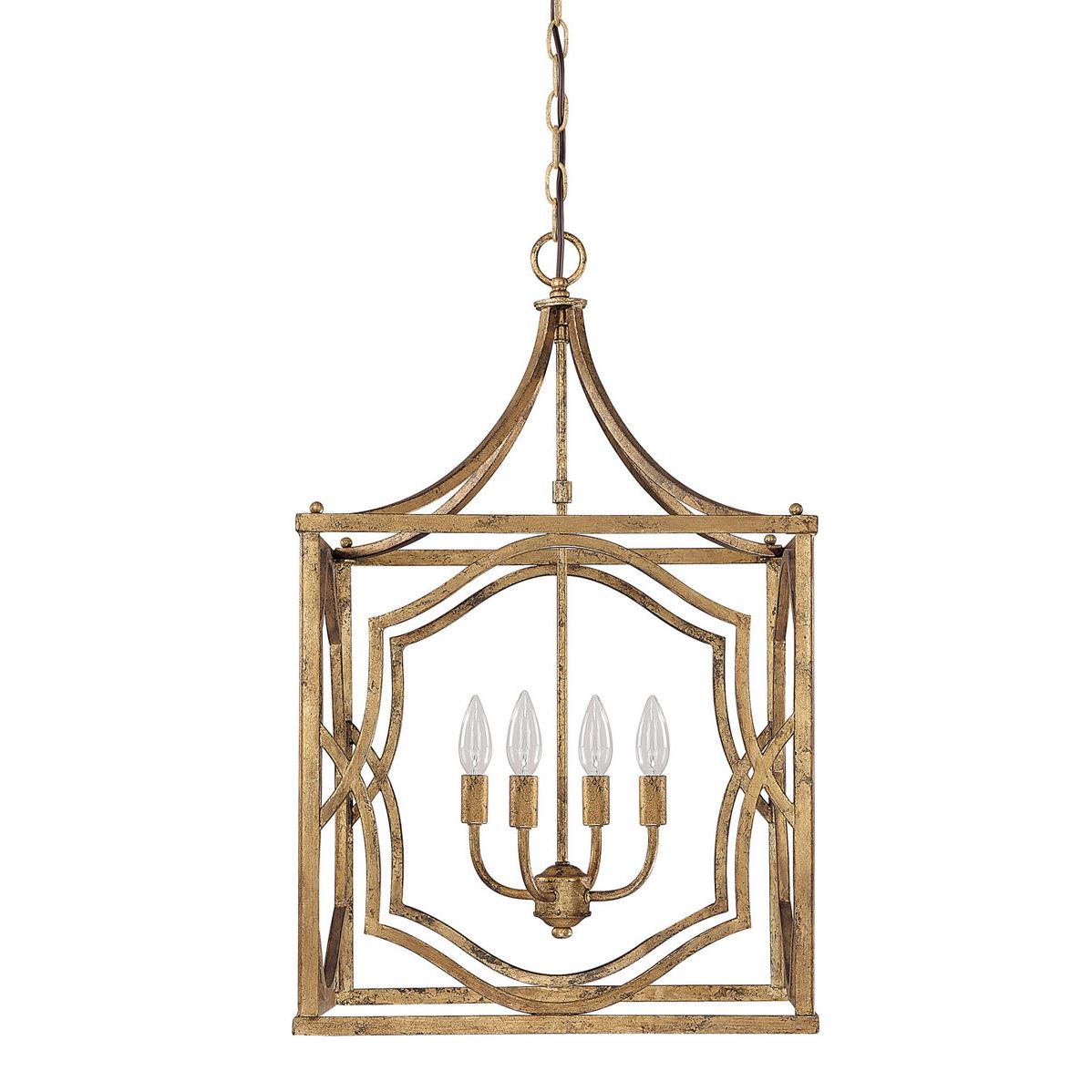Destrey 3 Light Lantern Square/rectangle Pendants For Trendy Destrey 4 Light Lantern Square / Rectangle Pendant (Gallery 5 of 25)
