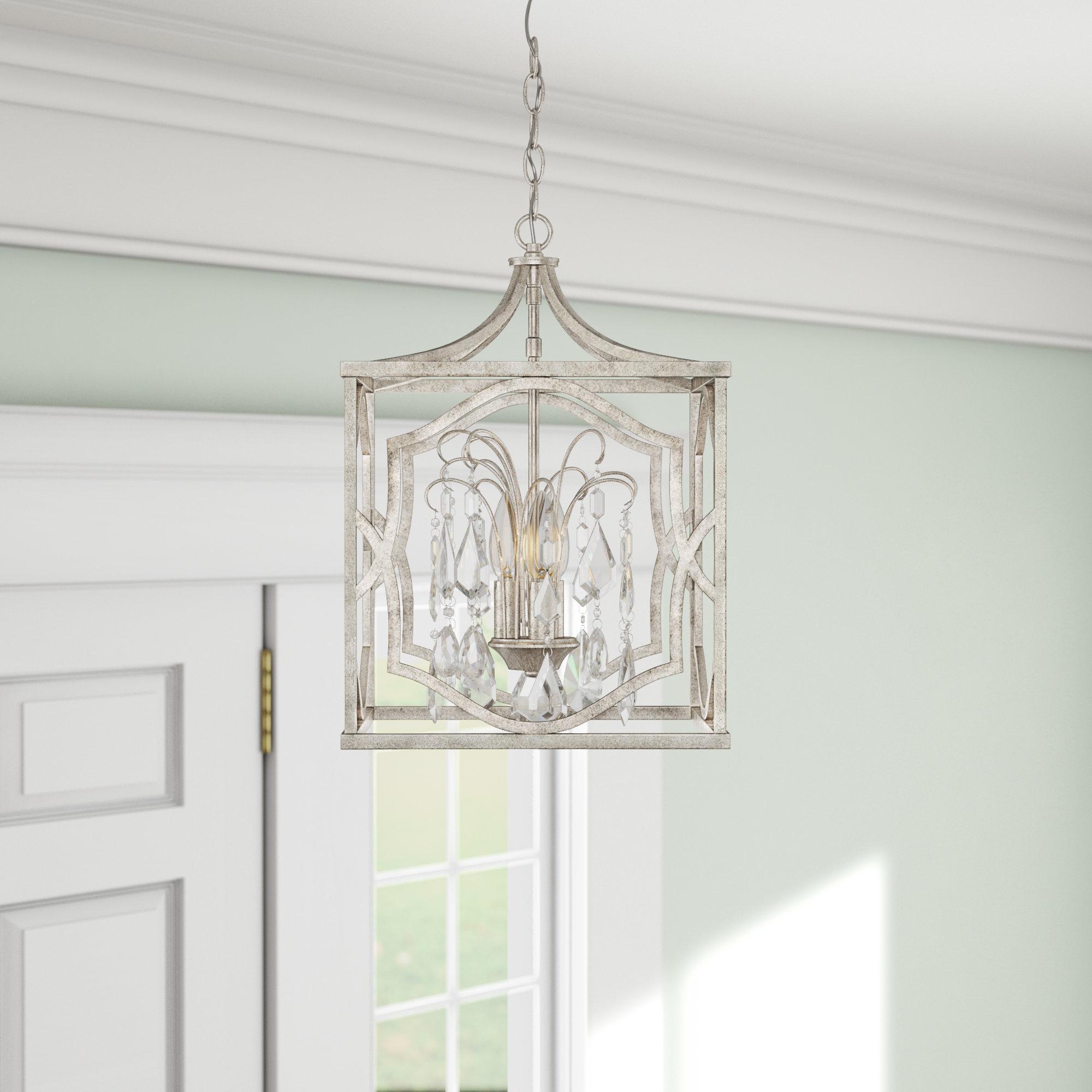 Destrey 3-Light Lantern Square/rectangle Pendants regarding Popular Destrey 3-Light Lantern Pendant