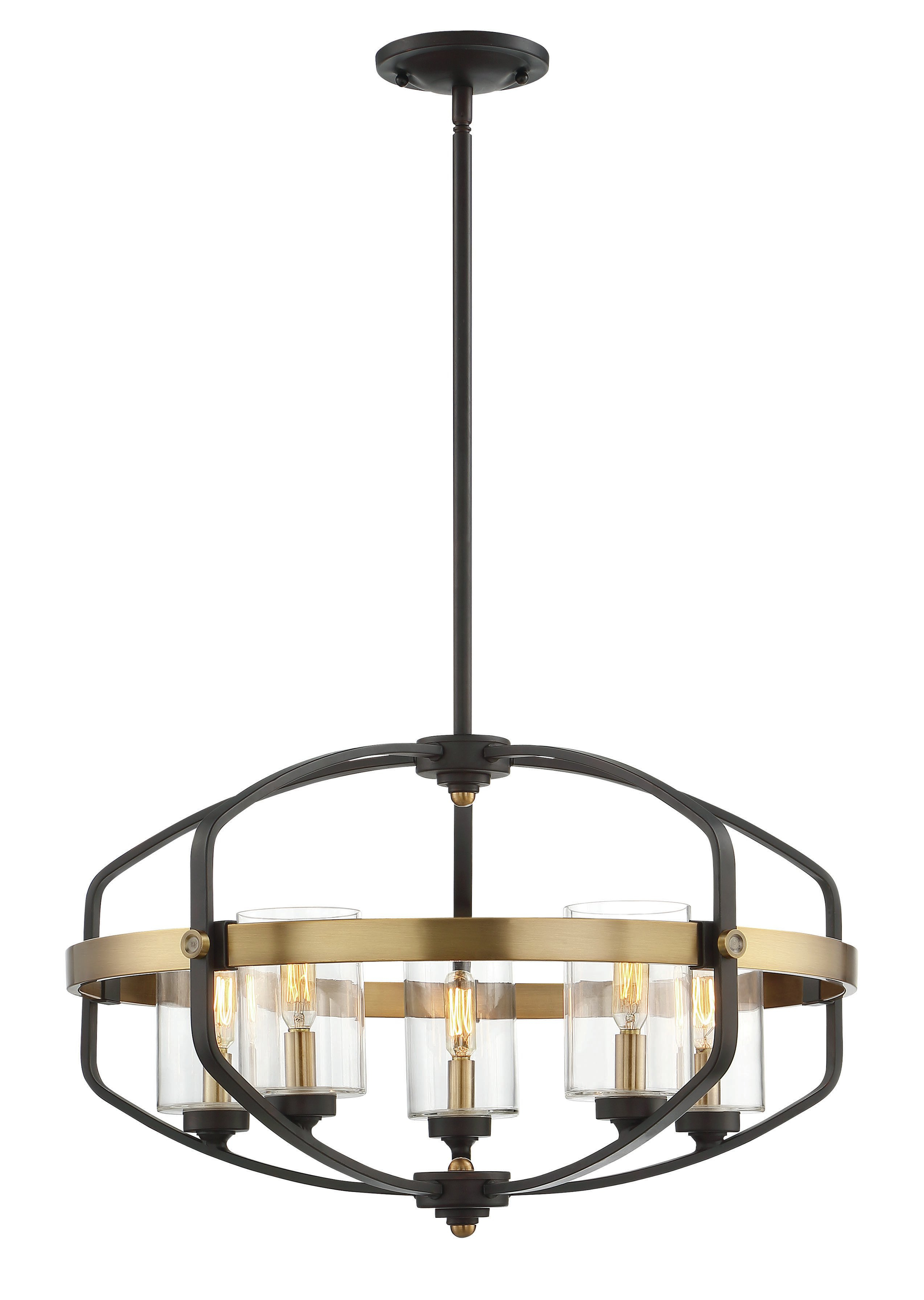 Destrey 3 Light Lantern Square/rectangle Pendants With Most Recent Modern Foyer Pendant Lighting (View 16 of 25)