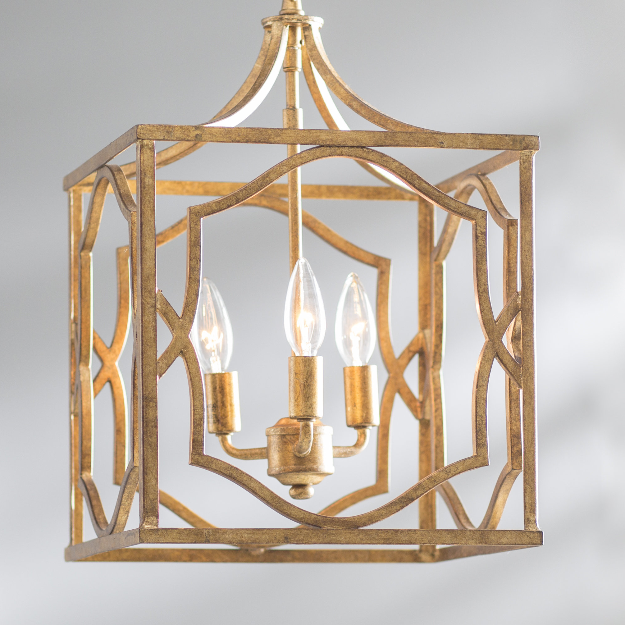 Destrey 3-Light Lantern Square/rectangle Pendants within Most Recent Destrey 3-Light Lantern Square/rectangle Pendant
