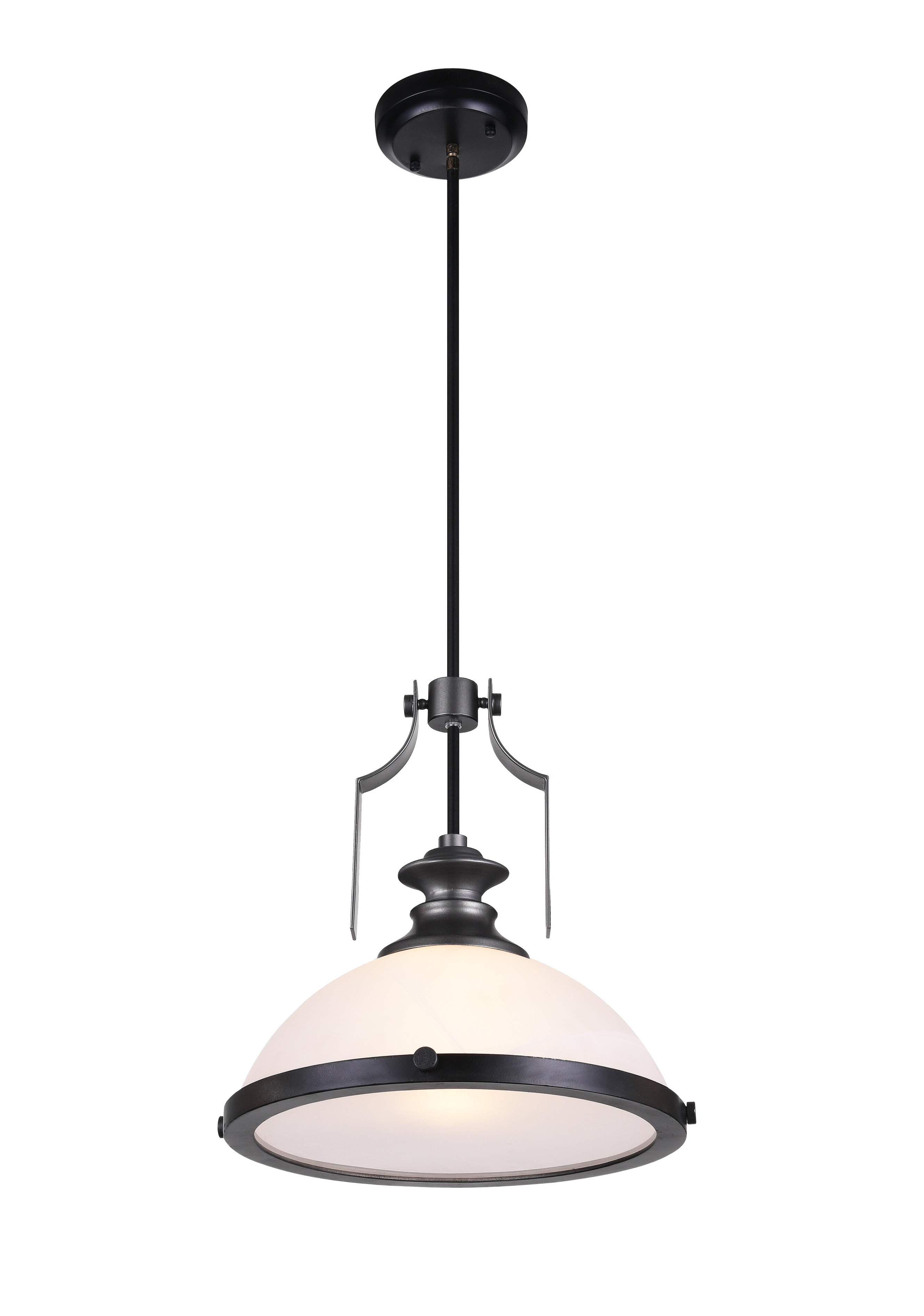 Detti 1-Light Dome Pendant with 2020 Terry 1-Light Single Bell Pendants