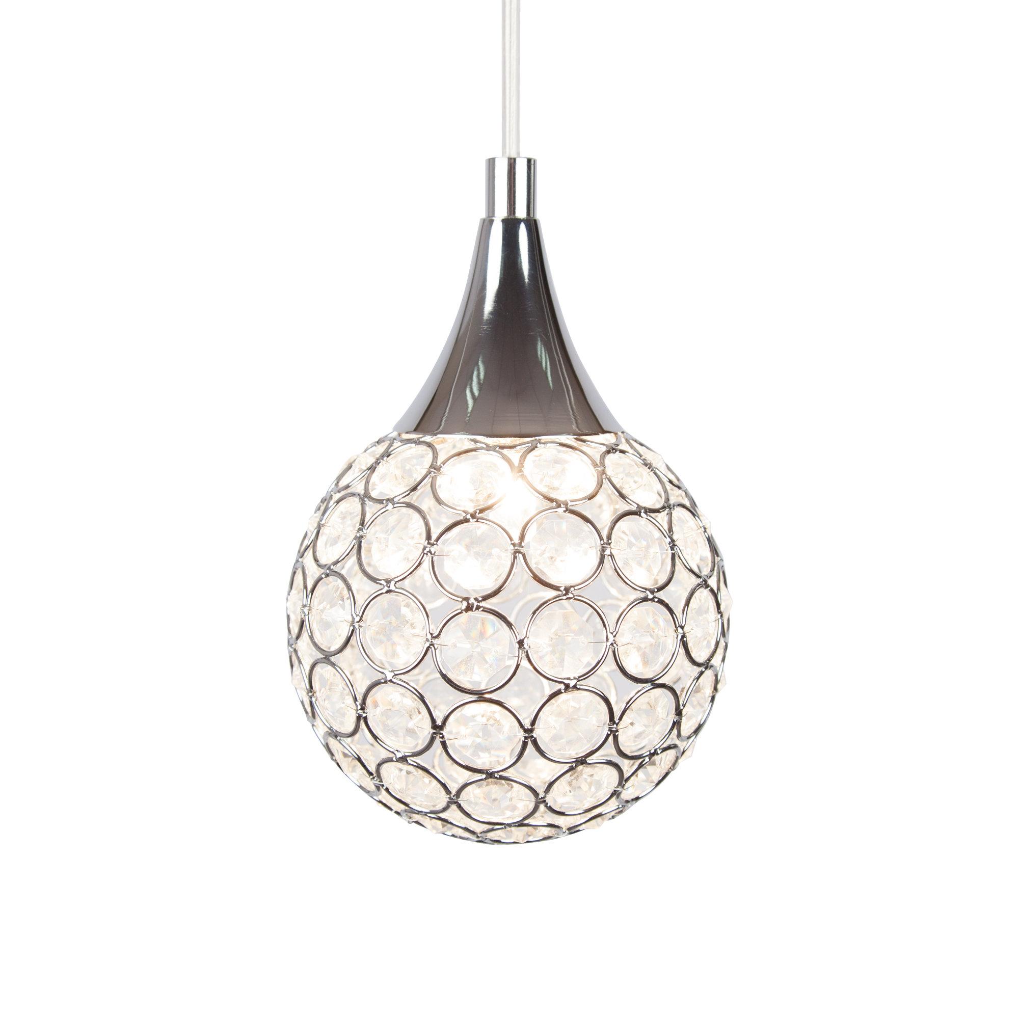 Devereaux 1-Light Single Globe Pendants intended for Recent Thea 1-Light Led Globe Pendant Light