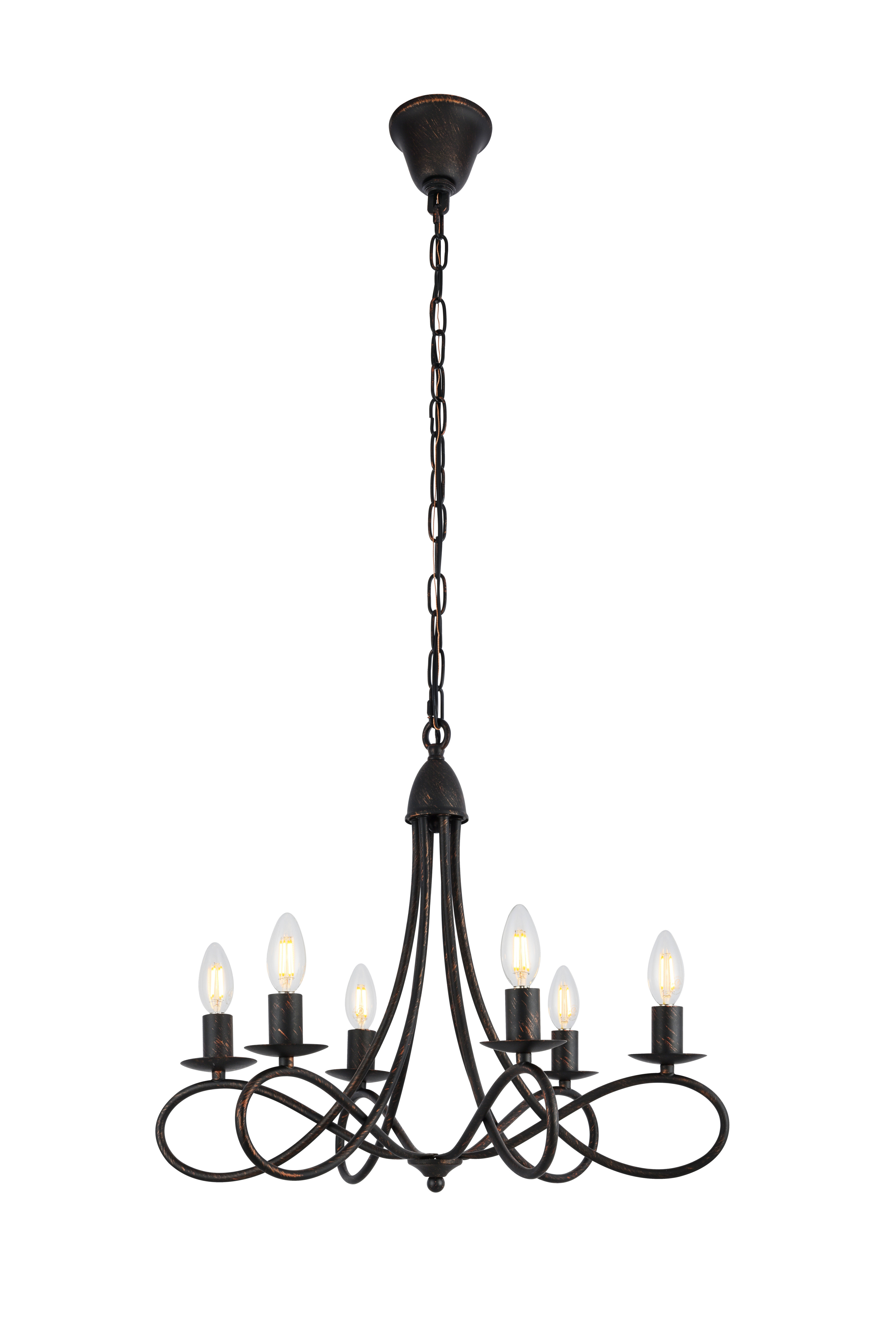 Diaz 6-Light Candle Style Chandelier inside Well known Berger 5-Light Candle Style Chandeliers