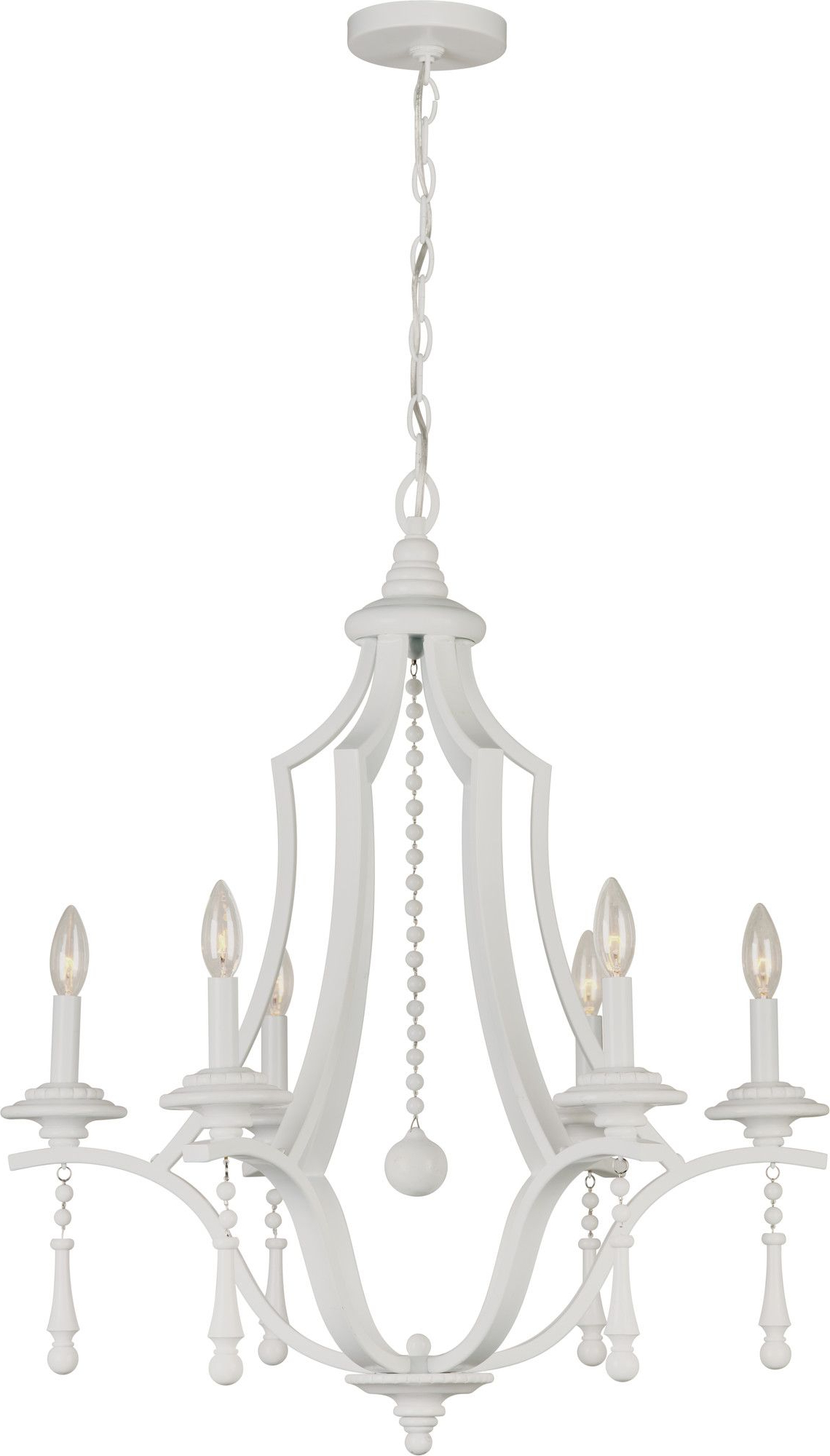 Diaz 6-Light Candle Style Chandeliers for Popular Parson 6 Light Chandelier