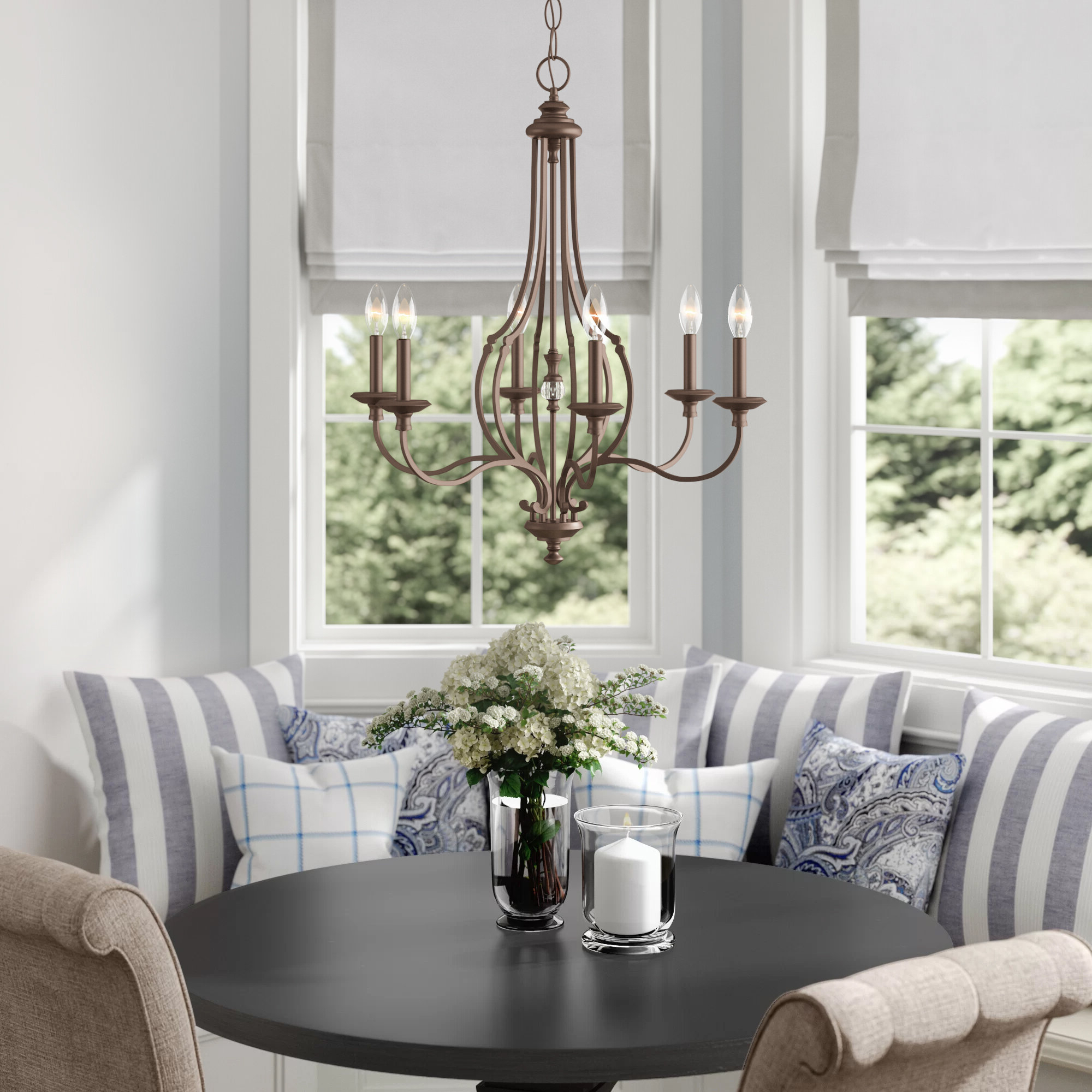 Diaz 6 Light Candle Style Chandeliers Throughout Well Known Jaclyn 6 Light Candle Style Chandelier (Gallery 21 of 25)