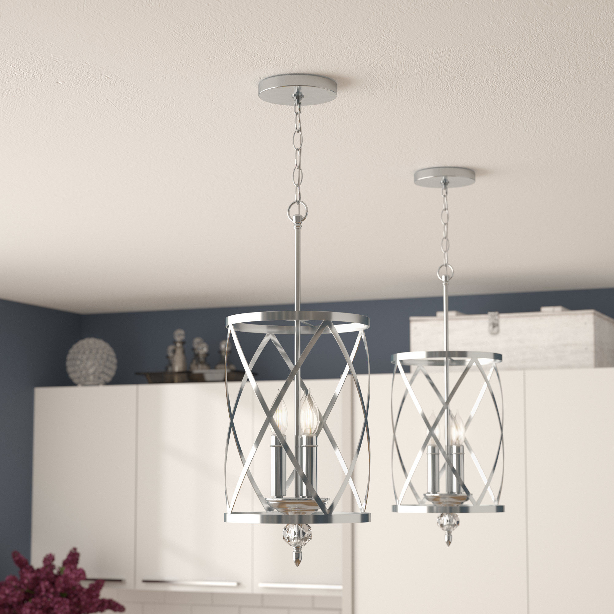 Featured Photo of Dirksen 3 Light Single Cylinder Chandeliers
