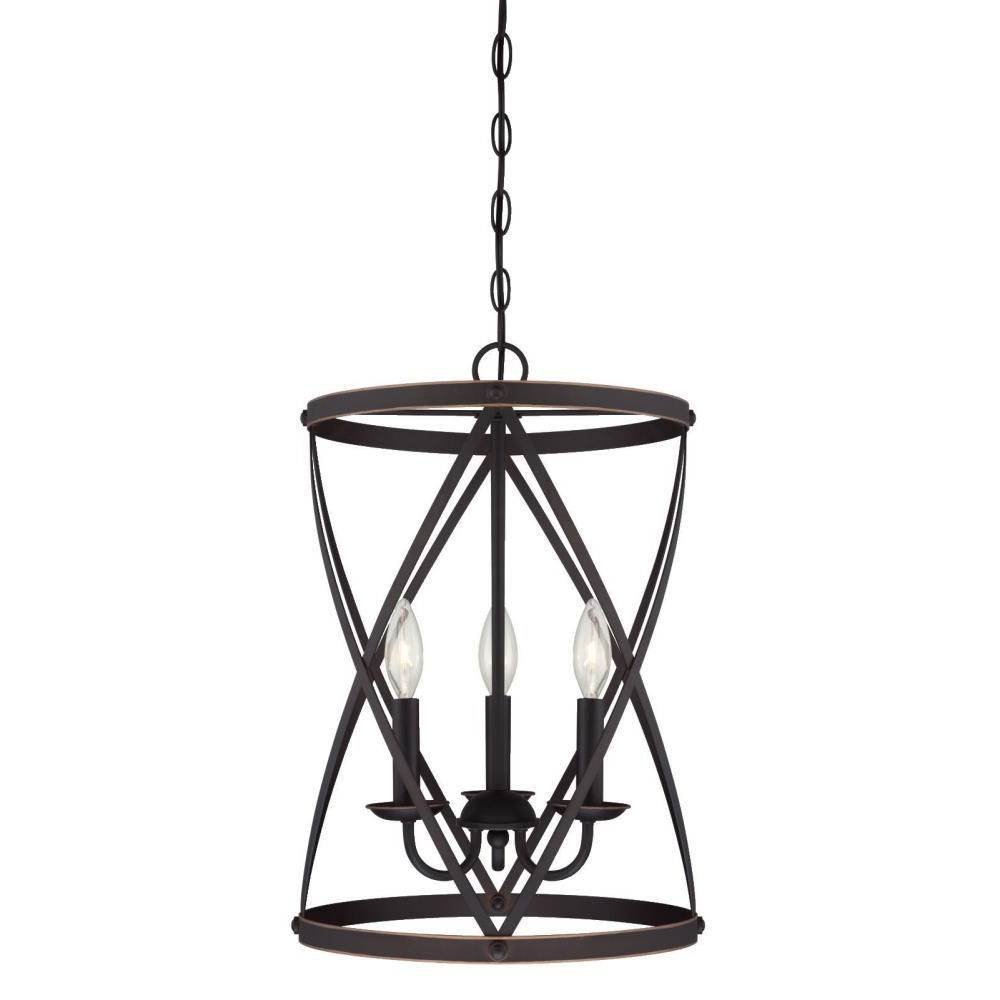 Dirksen 3 Light Single Cylinder Chandeliers Regarding Famous Westinghouse Isadora 3 Light Oil Rubbed Bronze Chandelier (View 17 of 25)