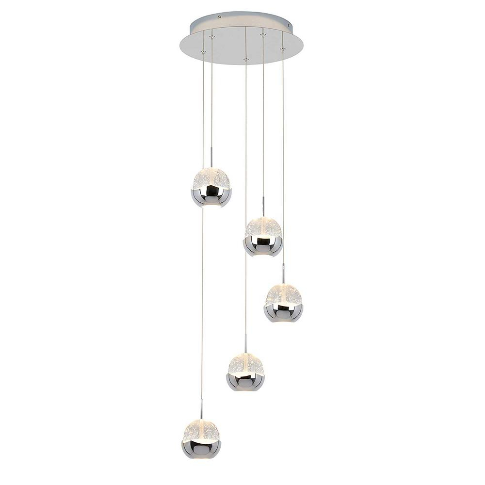 Dirksen 3 Light Single Cylinder Chandeliers Throughout Most Current Pendant Lights – Lighting – The Home Depot (View 25 of 25)