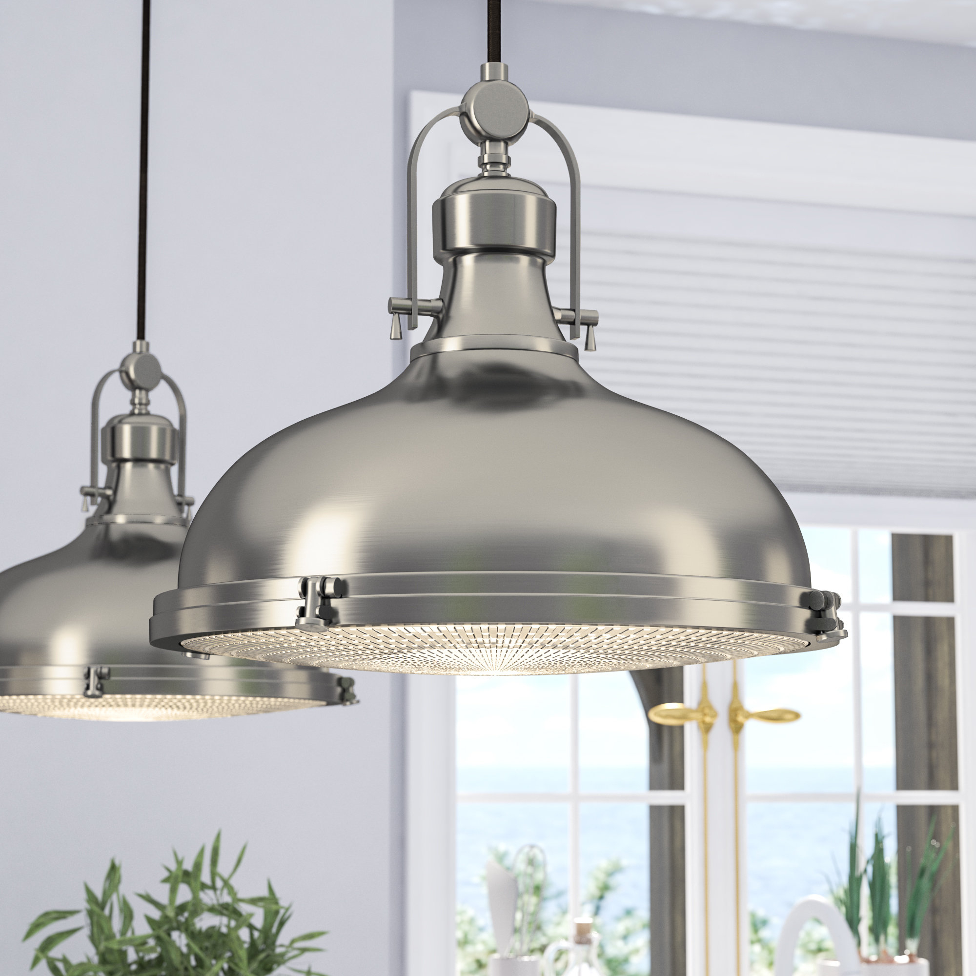 Dome Metal Pendant Lighting You'll Love In  (View 14 of 25)