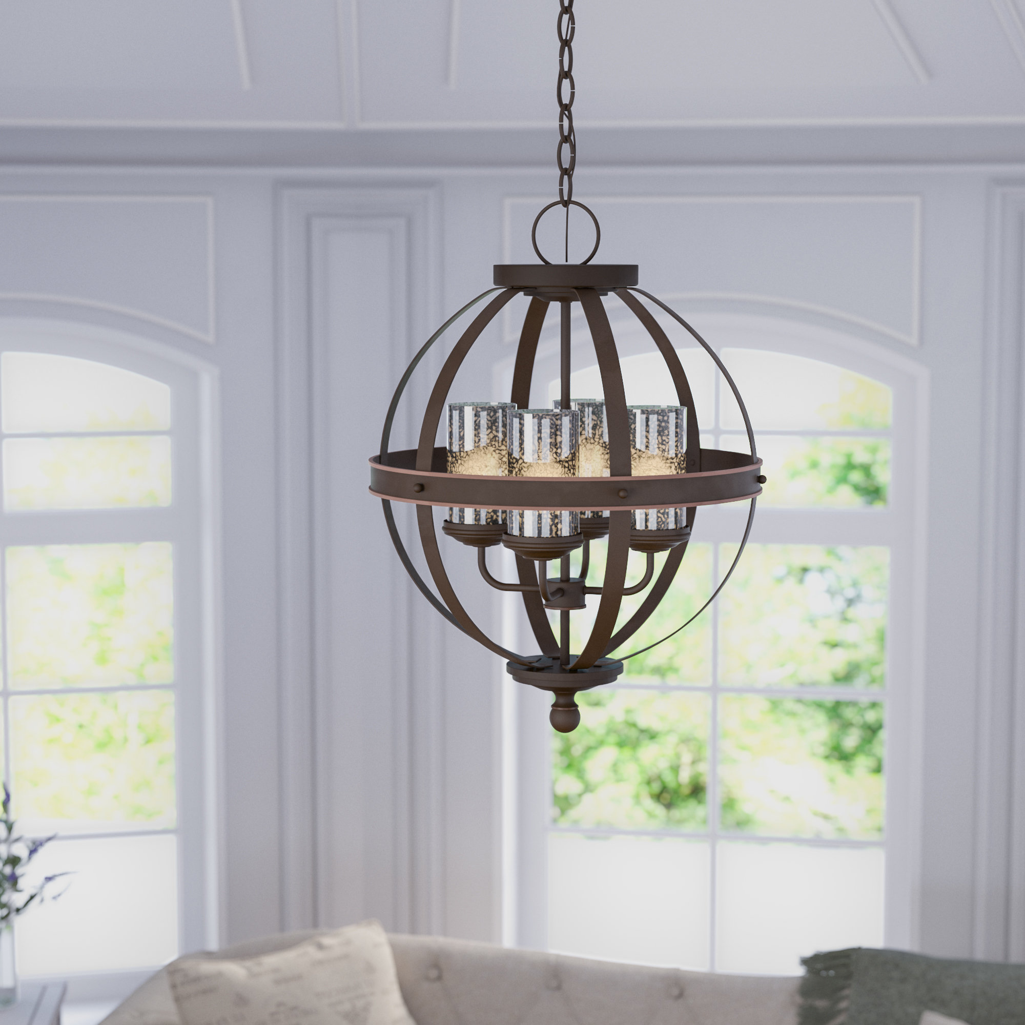 Donna 4-Light Globe Chandeliers intended for Popular Donna 4-Light Globe Chandelier