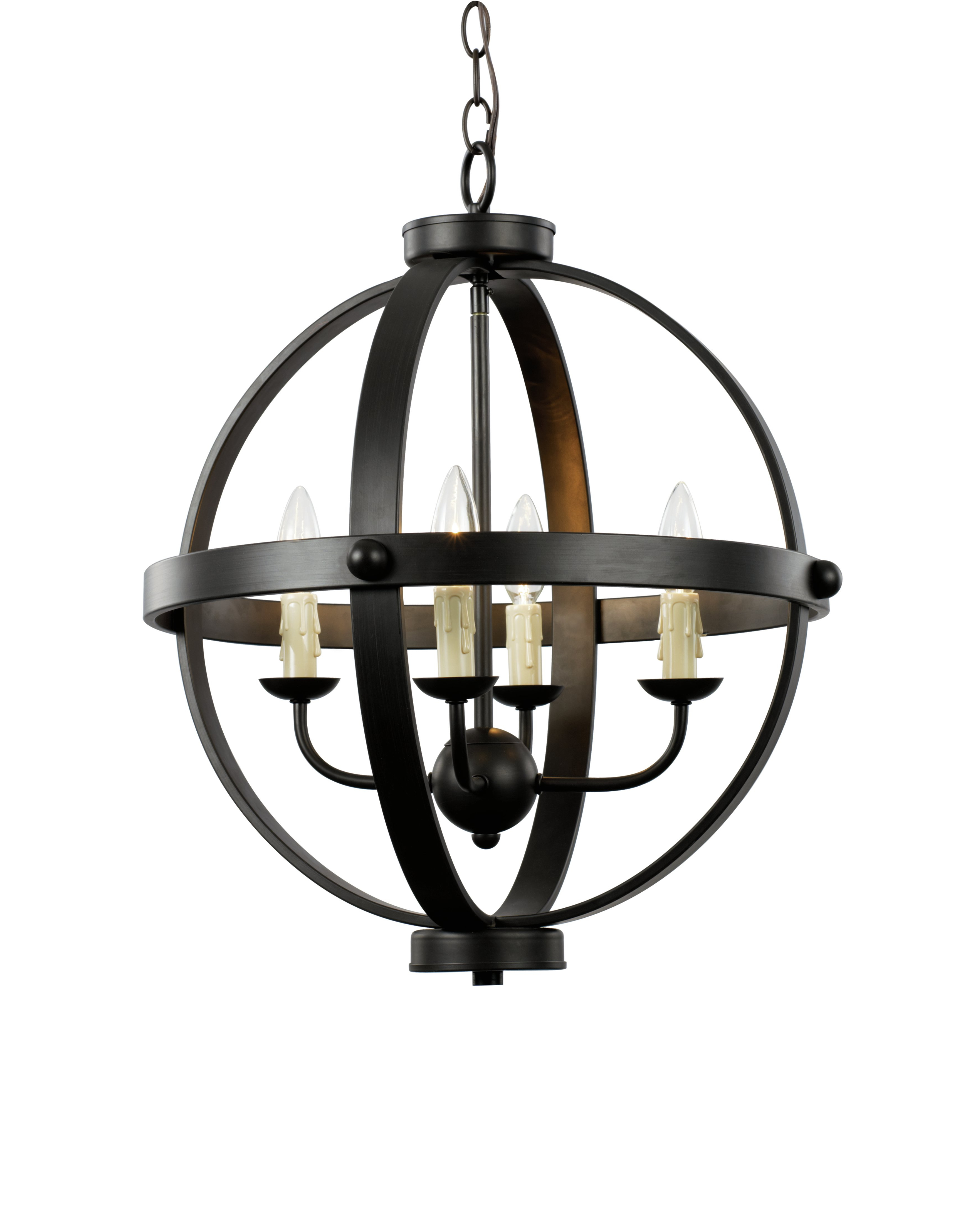 Donna 4 Light Globe Chandeliers Pertaining To Trendy Keven 4 Light Globe Chandelier (View 8 of 25)
