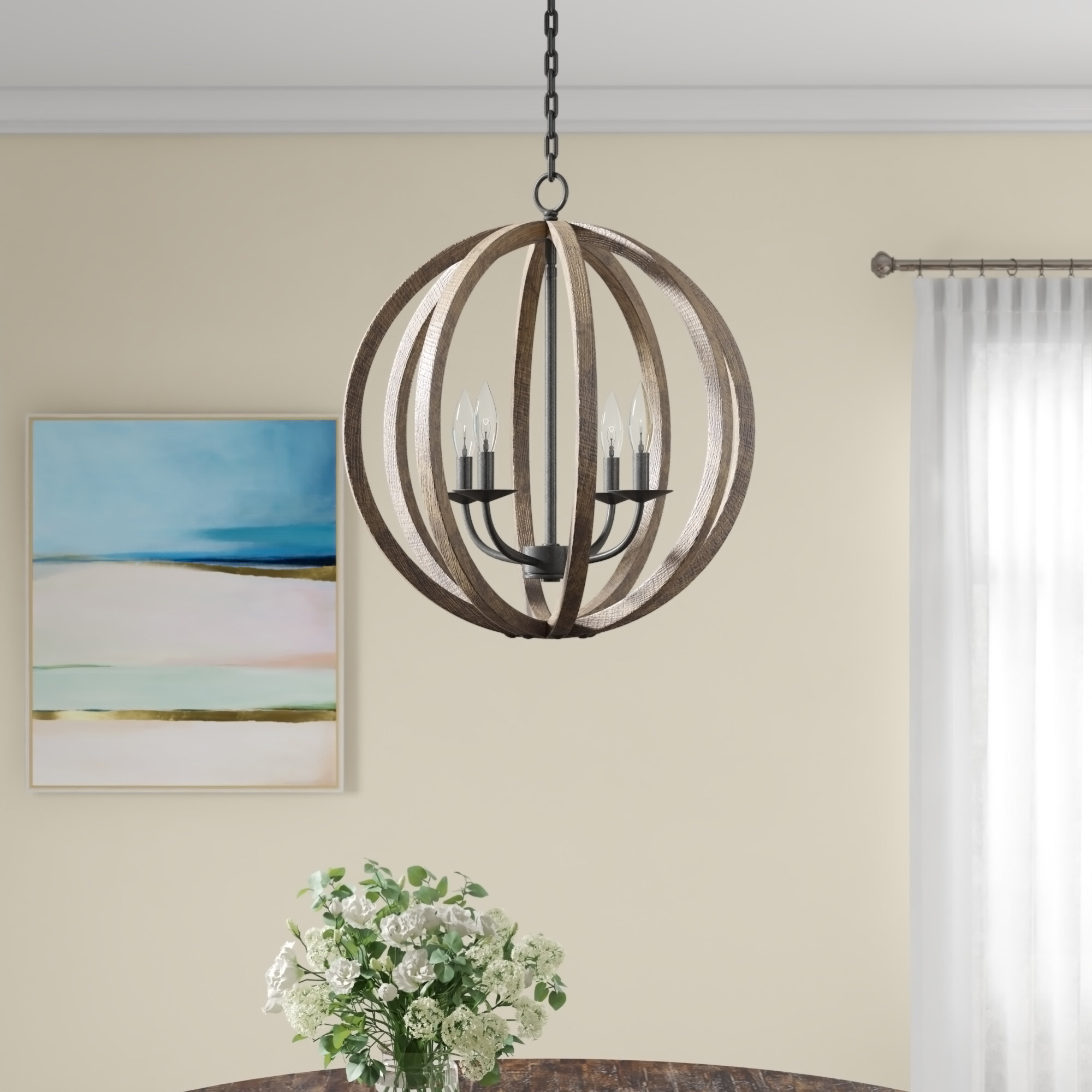 Donna 4-Light Globe Chandeliers throughout Latest Ricciardo 4-Light Globe Chandelier