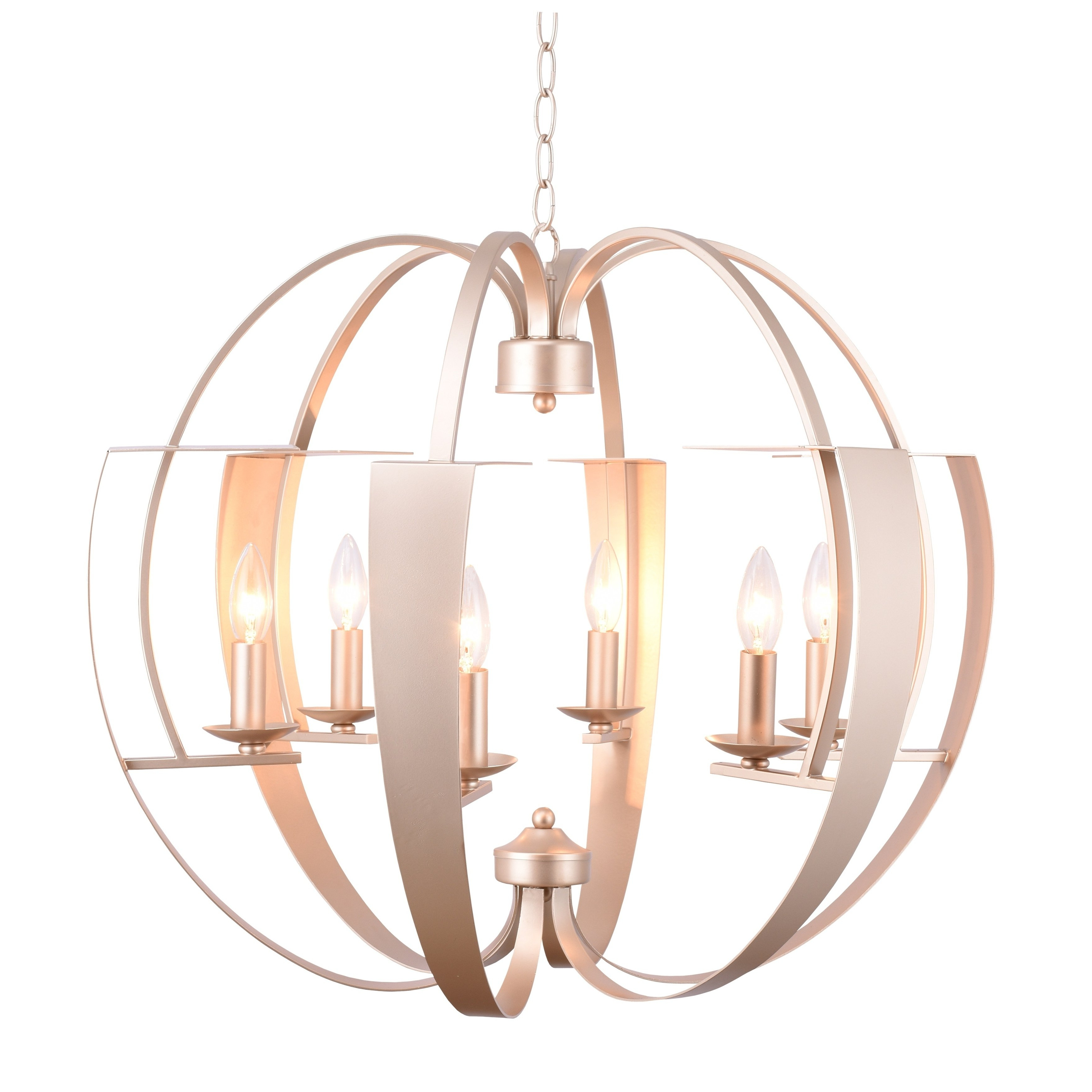 Donna 6 Light Globe Chandeliers For Widely Used 6 Light Chandelier With Pewter Finish In  (View 6 of 25)