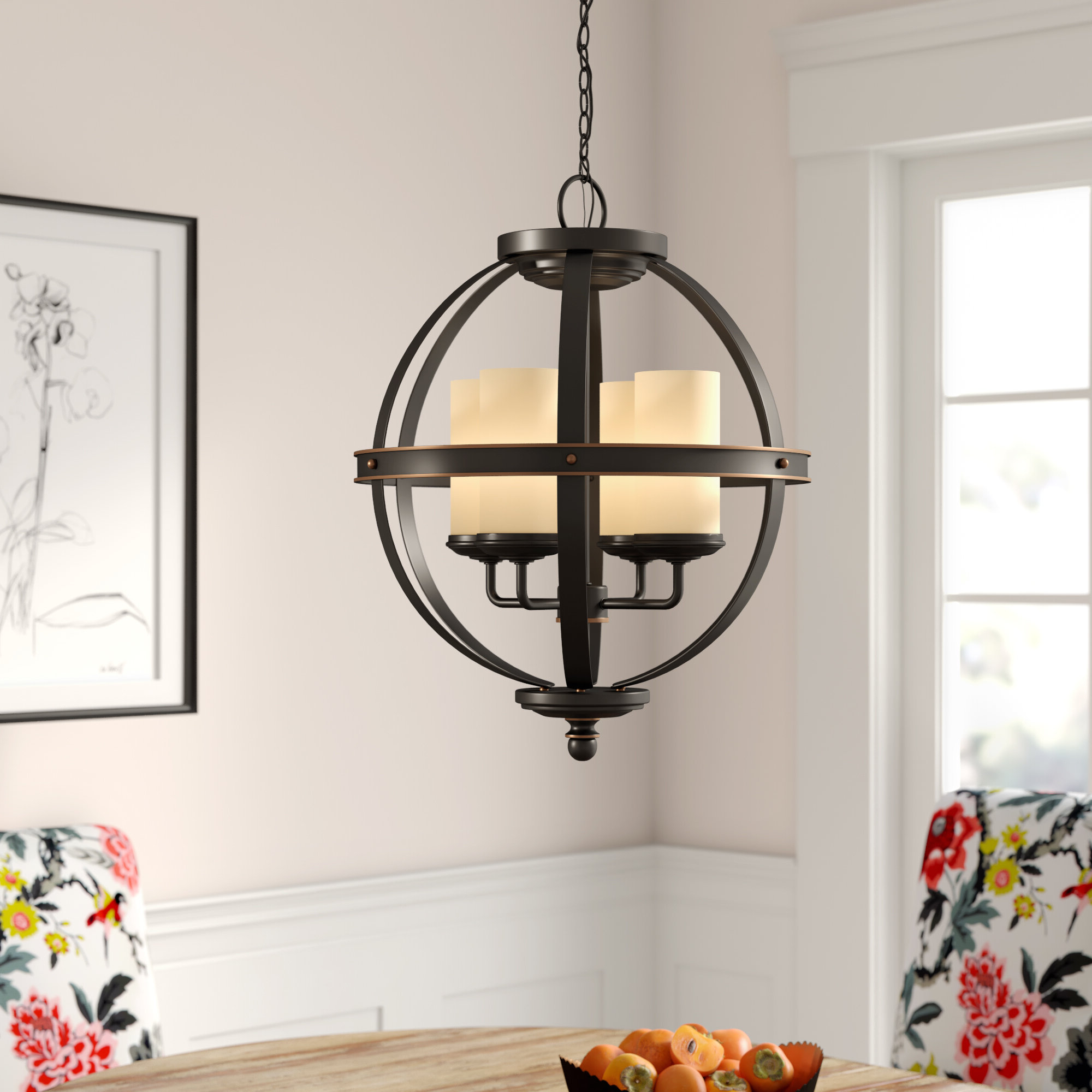Donna 6-Light Globe Chandeliers inside Most Up-to-Date Donna 4-Light Globe Chandelier