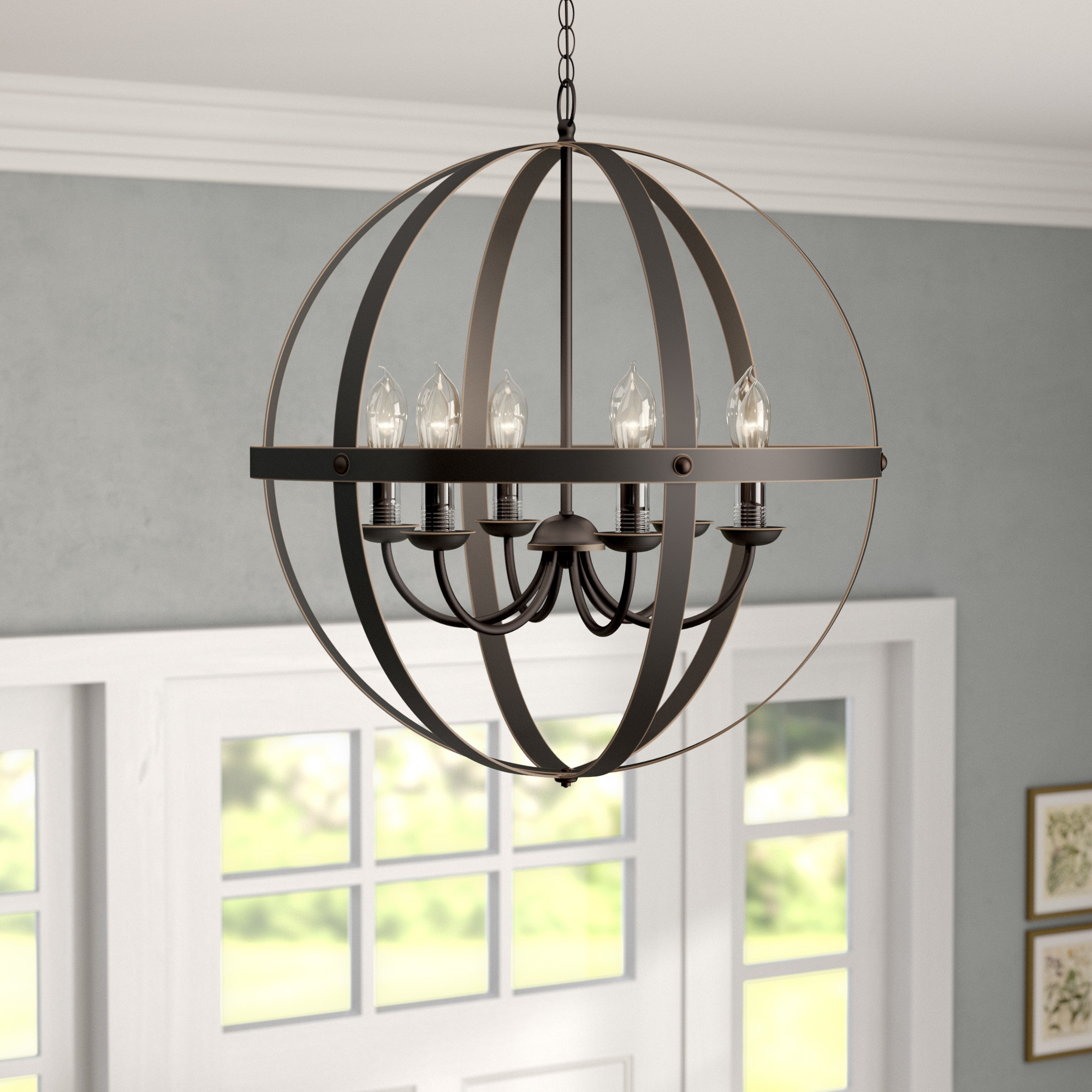 Donna 6 Light Globe Chandeliers With Famous Genna 6 Light Globe Chandelier (View 9 of 25)