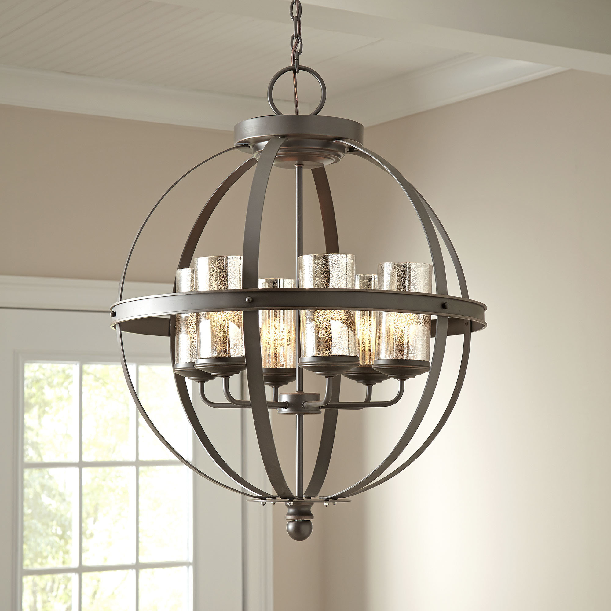 Donna 6-Light Globe Chandeliers within Trendy Donna 6-Light Globe Chandelier