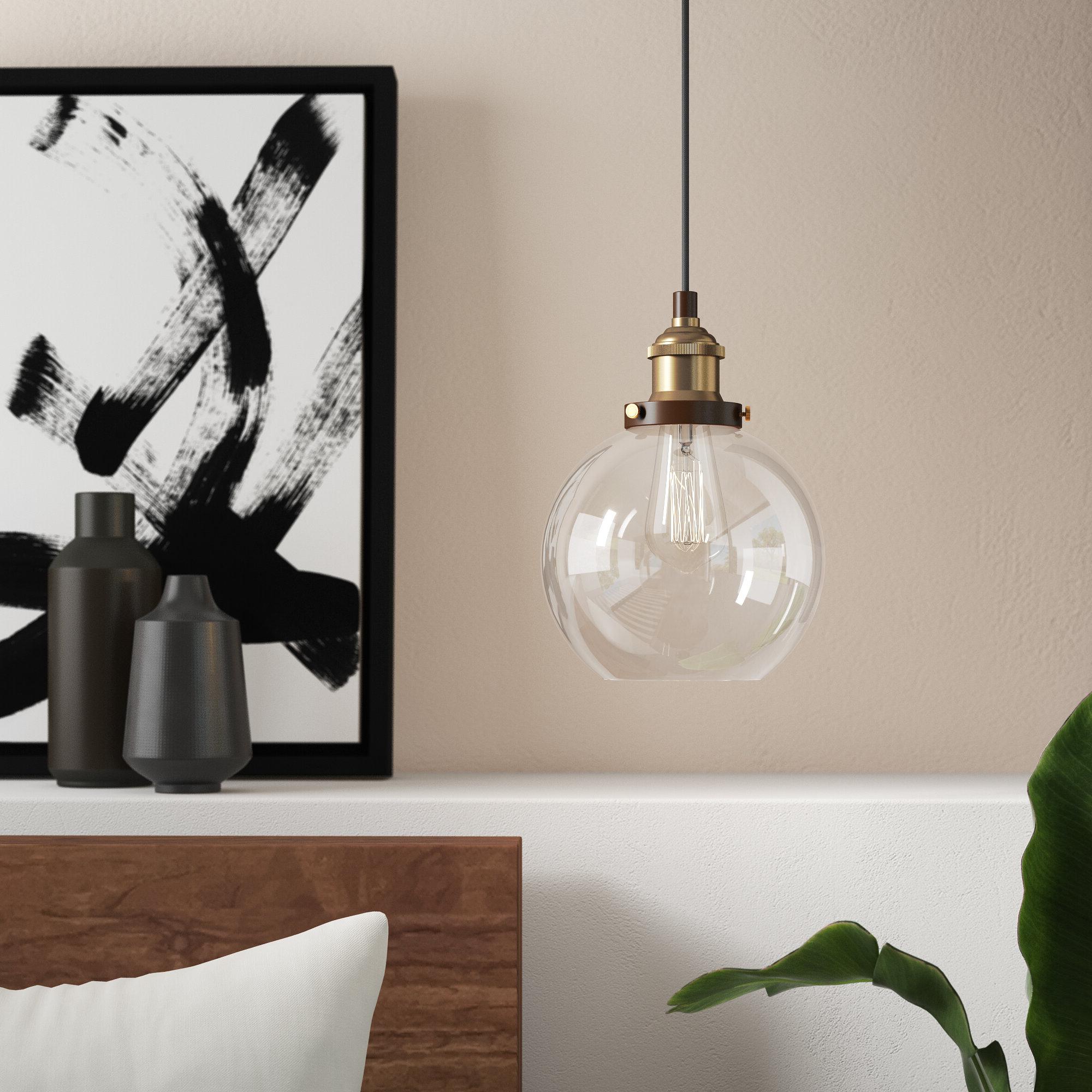 Dunneback 1-Light Single Globe Pendant with Latest Bautista 1-Light Single Globe Pendants