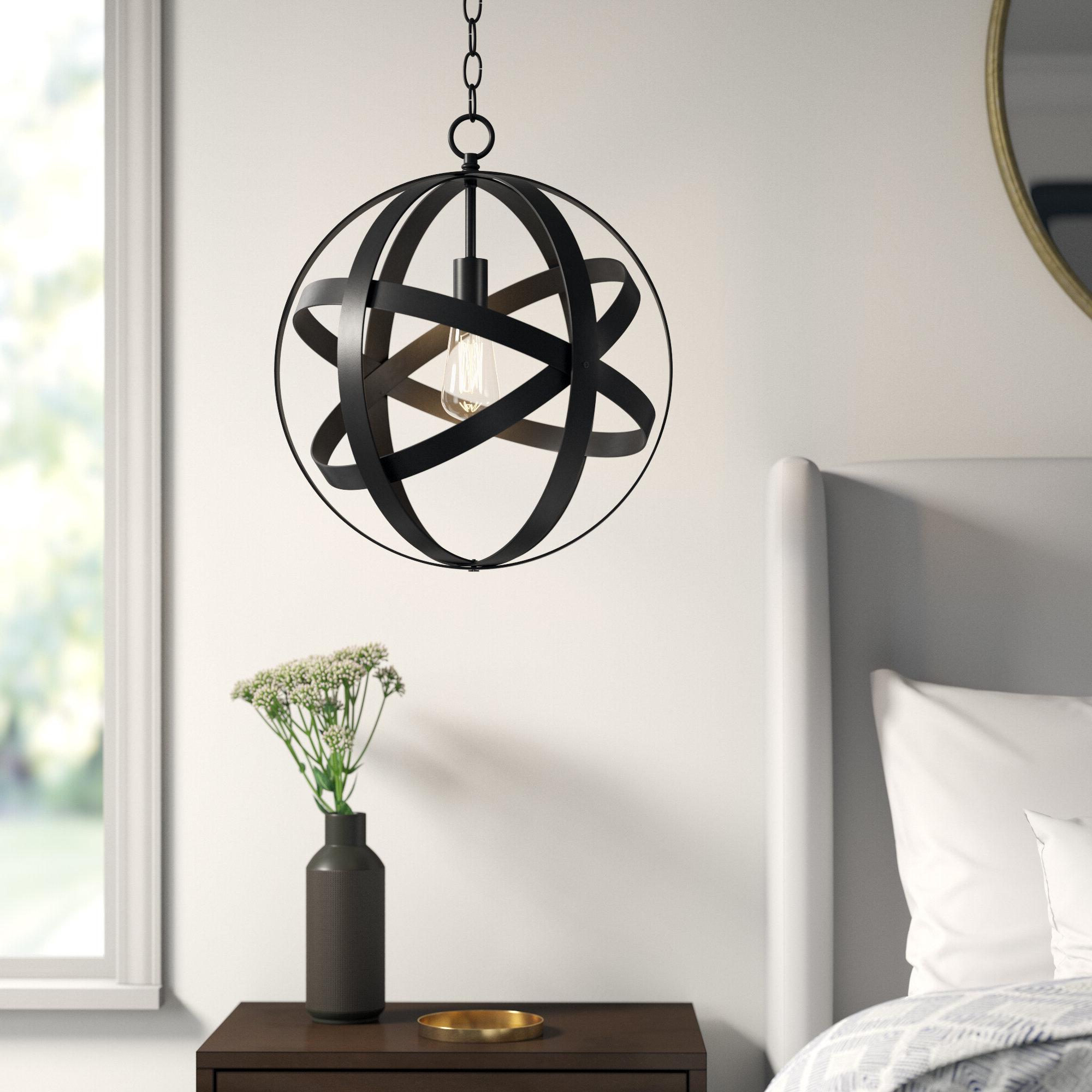 Ealey 1 Light Globe Pendant Intended For 2019 Irwin 1 Light Single Globe Pendants (Gallery 18 of 25)