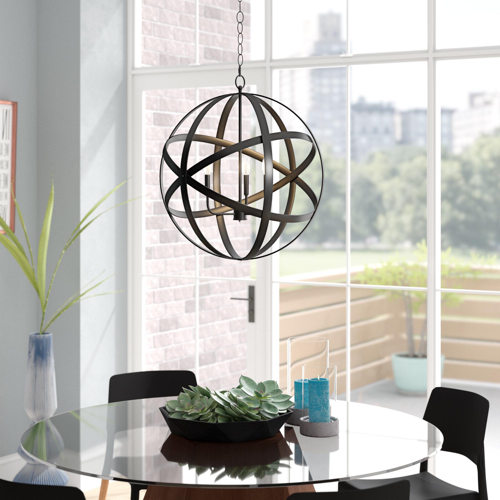 Ealey 1-Light Single Globe Pendant intended for 2019 Irwin 1-Light Single Globe Pendants