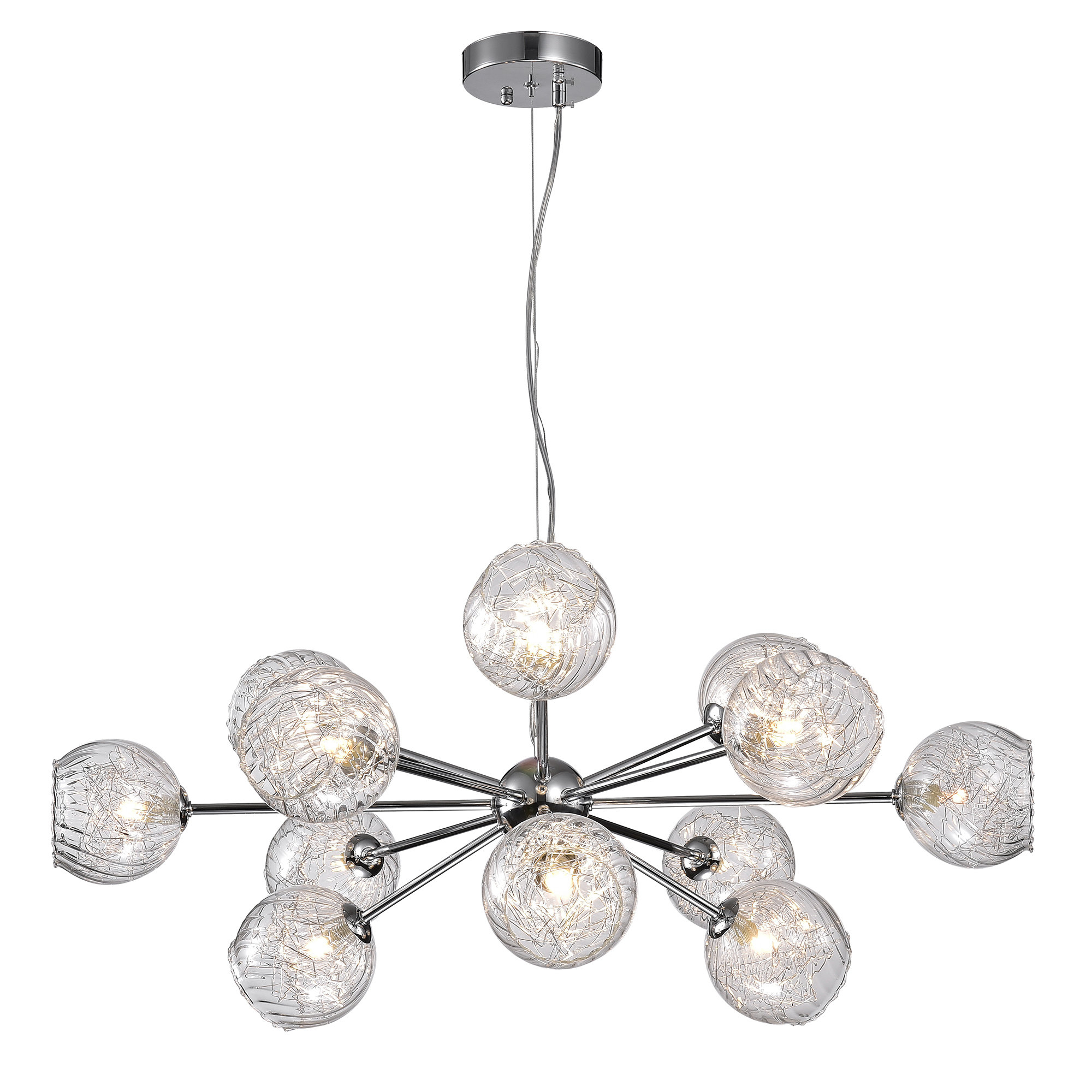 Earleville 12-Light Sputnik Chandelier throughout Recent Asher 12-Light Sputnik Chandeliers