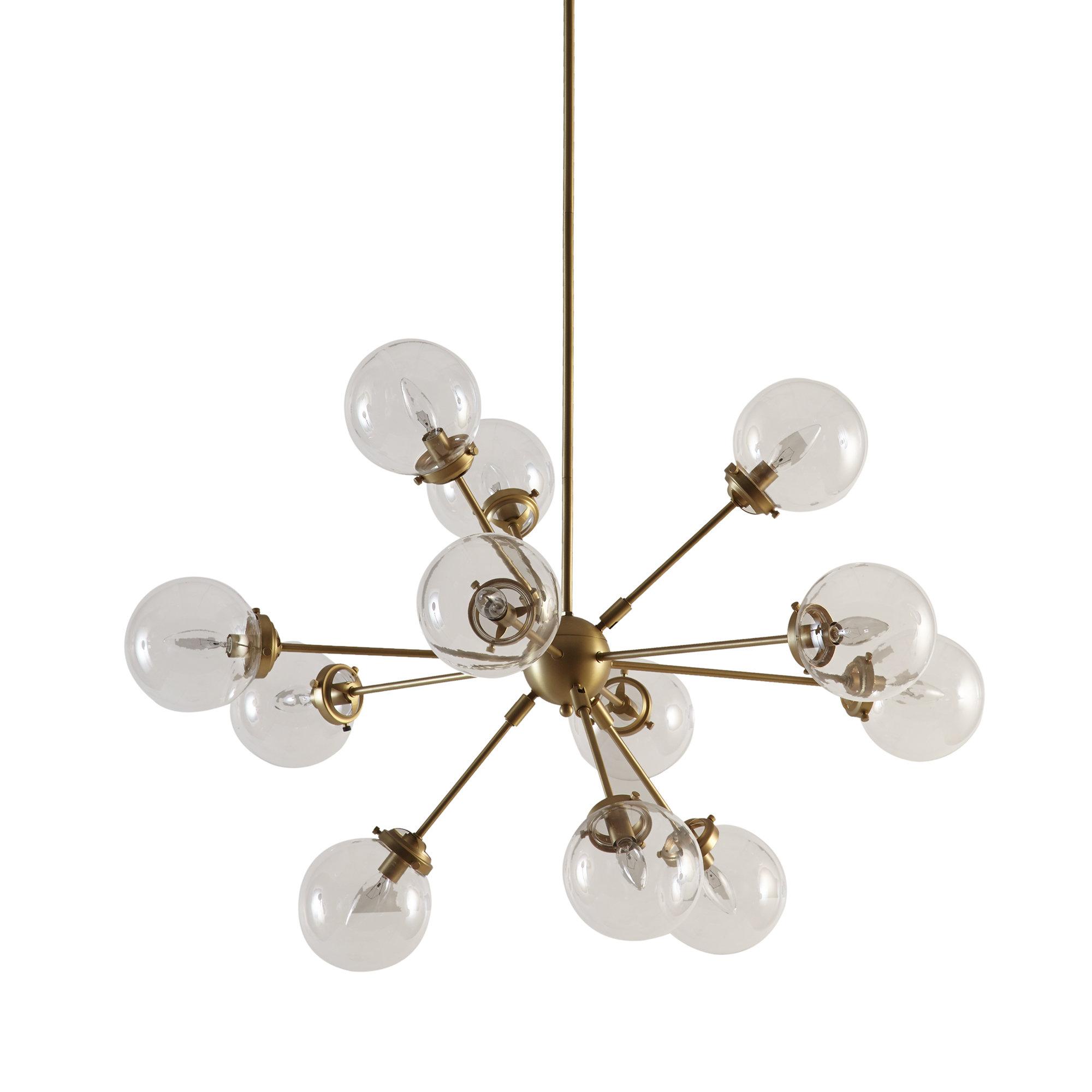 Eastbourne 6-Light Unique / Statement Chandeliers throughout 2019 Modern & Contemporary Gold Geometric Light Fixture
