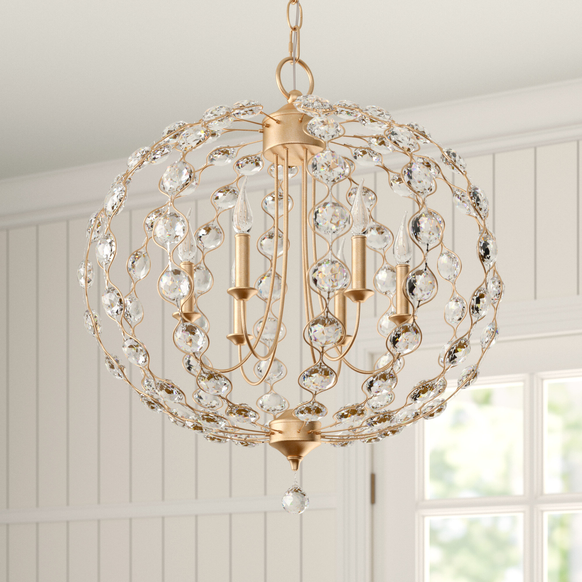 Eira Globe Chandelier With Regard To Fashionable Filipe Globe Chandeliers (Gallery 12 of 25)