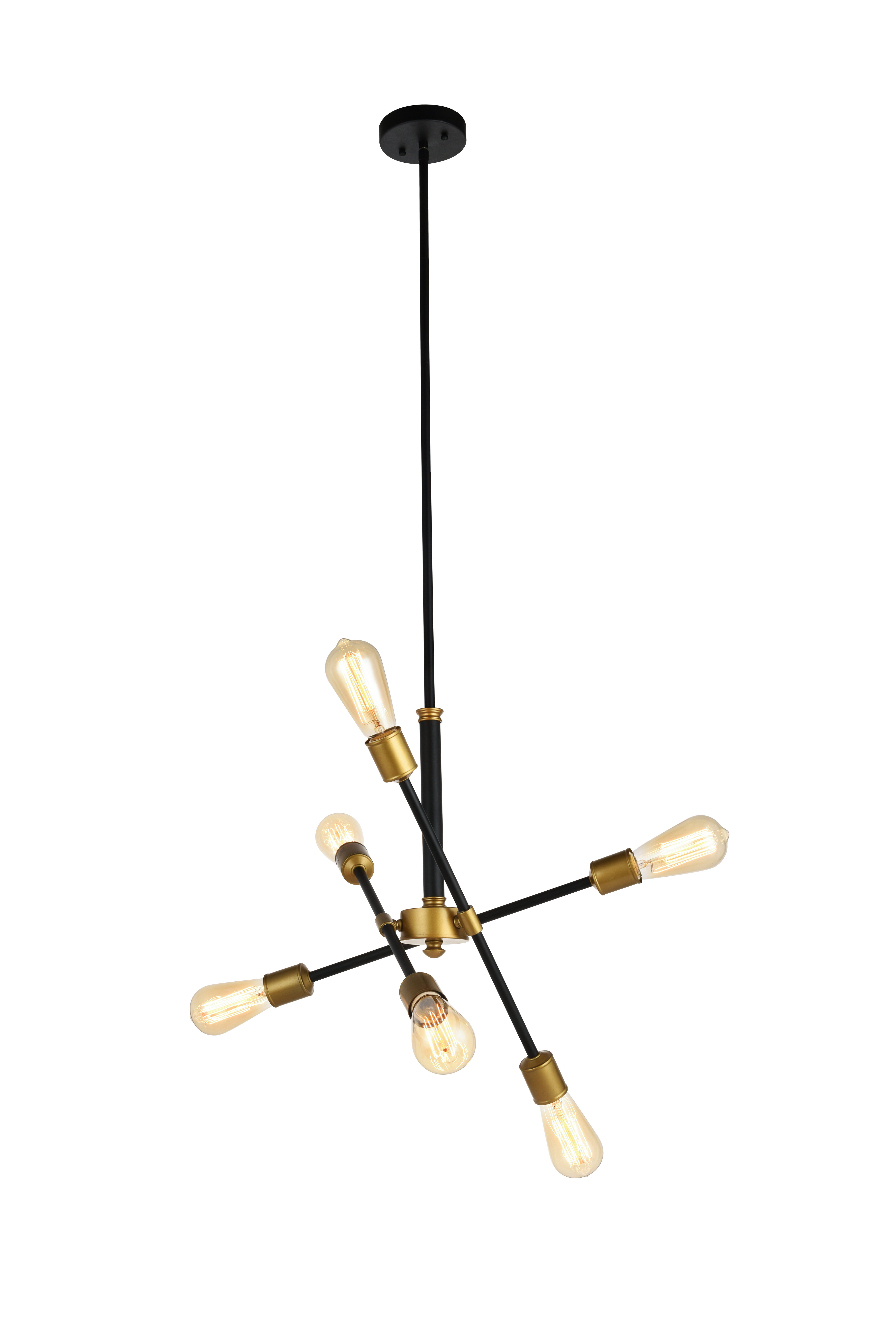 Eladia 6-Light Sputnik Chandeliers in Most Up-to-Date Mullet 6-Light Sputnik Chandelier