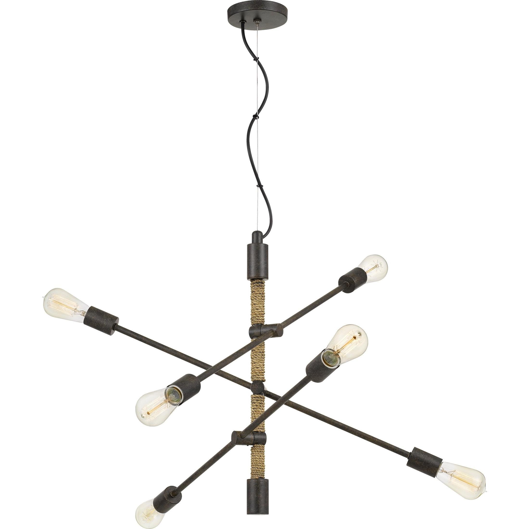 Eladia 6 Light Sputnik Chandeliers With Regard To Most Popular Lonestreet Tarnished Bronze 6 Light Chandelier, Beige (Steel (View 19 of 25)