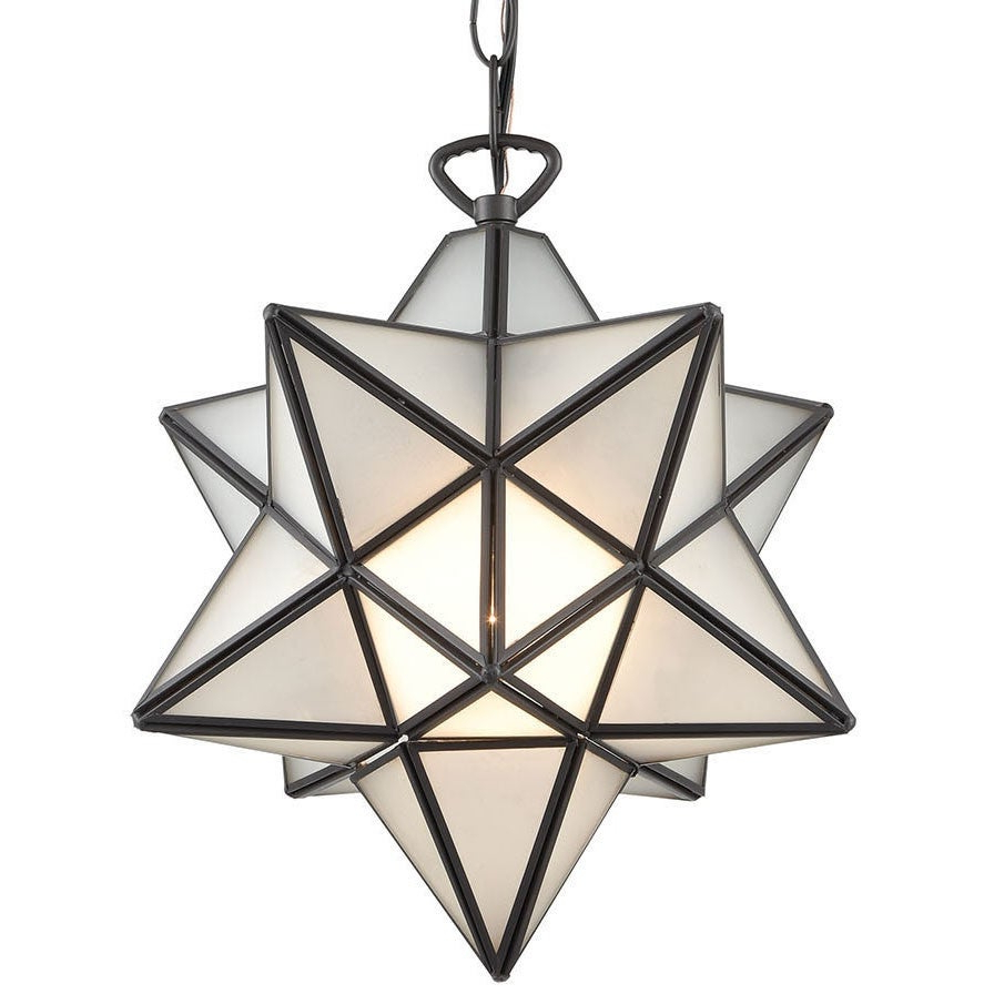"Elk Home 1145 021 Moravian Star Single Light 12"" Wide Pendant – Inside Famous 1 Light Single Star Pendants (Gallery 15 of 25)"