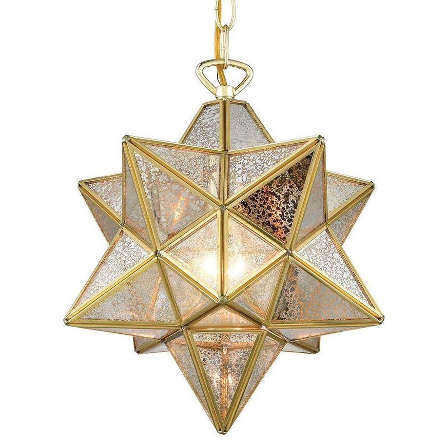 """Elk Home 1145-023 Moravian Star Single Light 12"""" Wide Pendant in Well known 1-Light Single Star Pendants"""