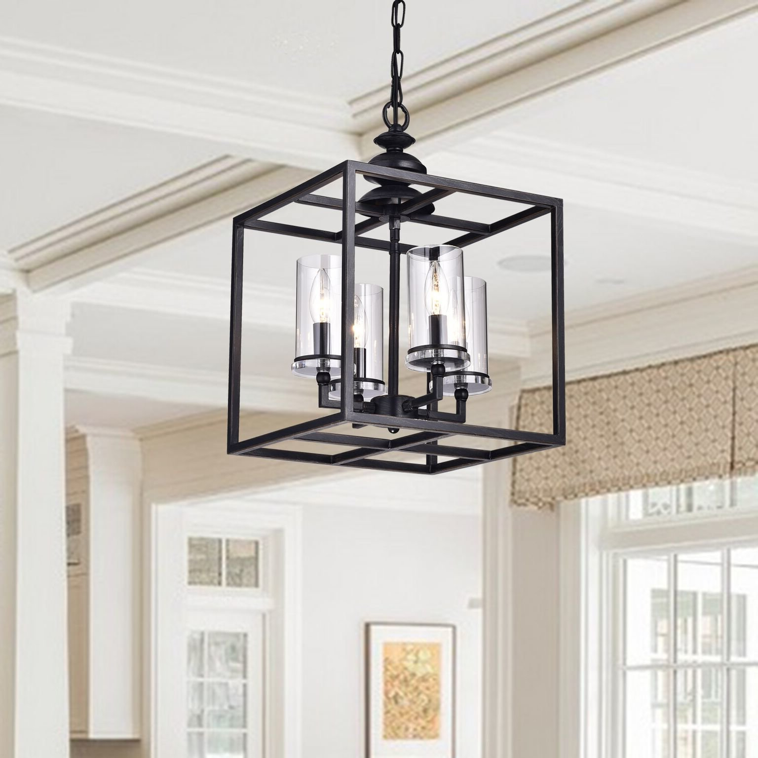 Ellenton 4 Light Rectangle Chandeliers Within Well Liked Cheverton 4 Light Square/rectangle Chandelier (Gallery 4 of 25)