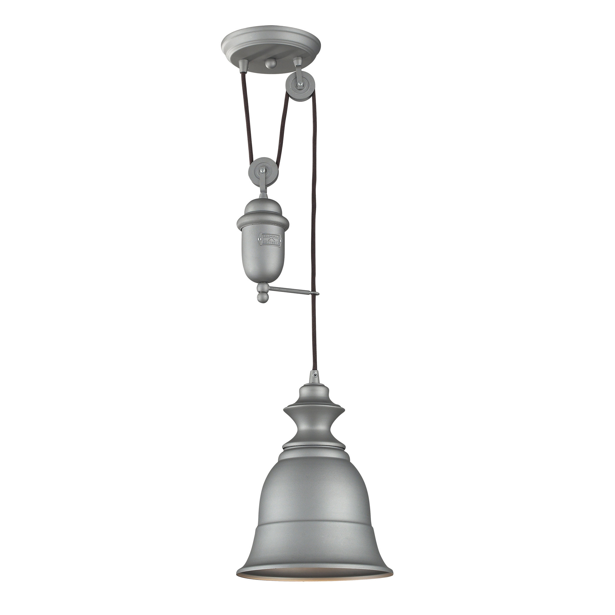 Elsenborn 1-Light Single Bell Pendant inside Popular Adriana Black 1-Light Single Dome Pendants