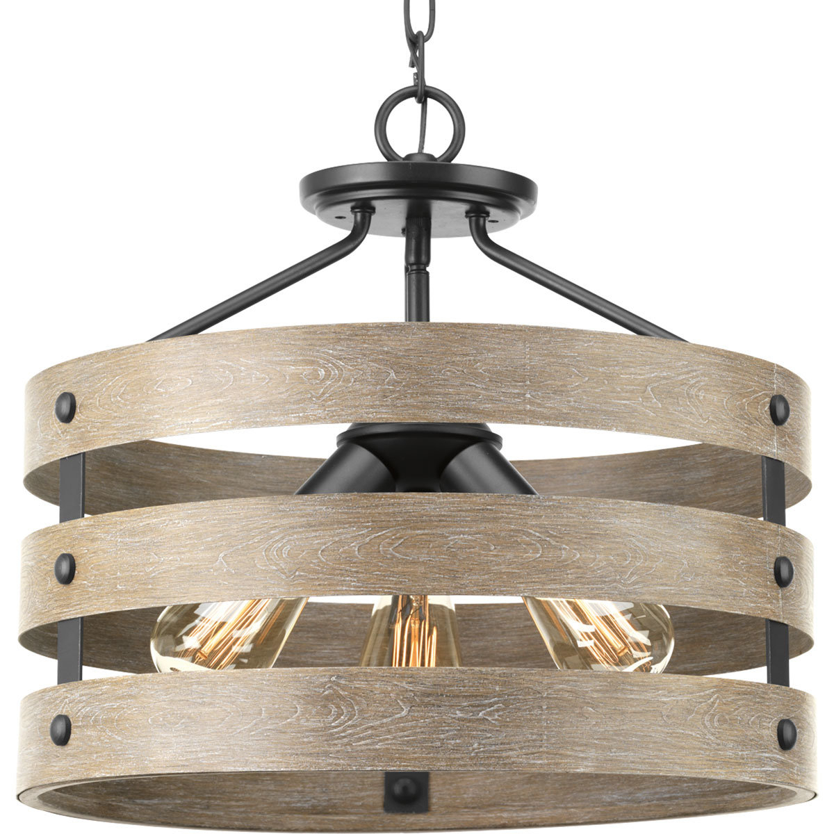 Emaria 3-Light Single Drum Pendant for Best and Newest Emaria 3-Light Single Drum Pendants