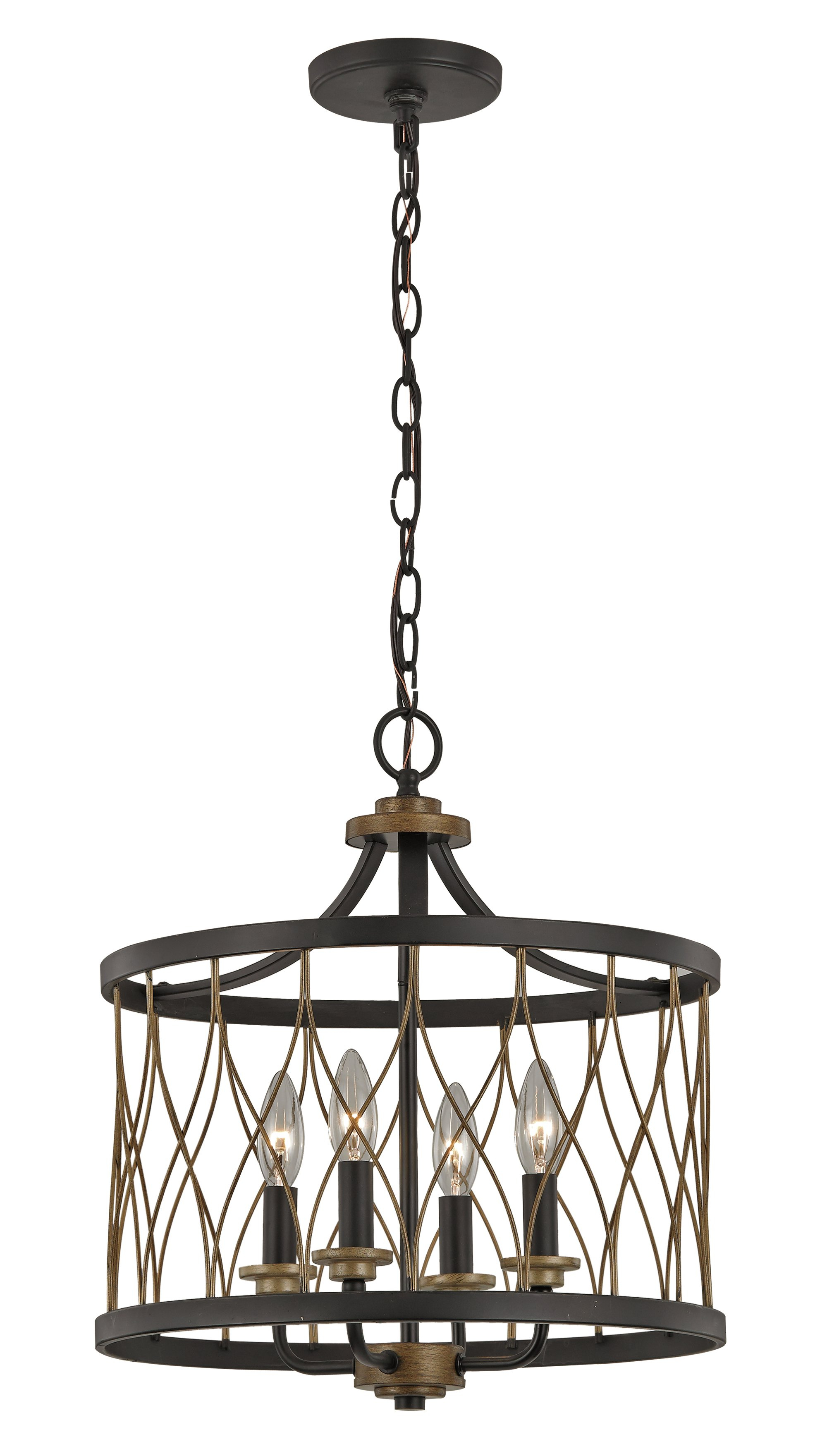 Emaria 3-Light Single Drum Pendants with regard to Most Recent Drum Pendant With Chain