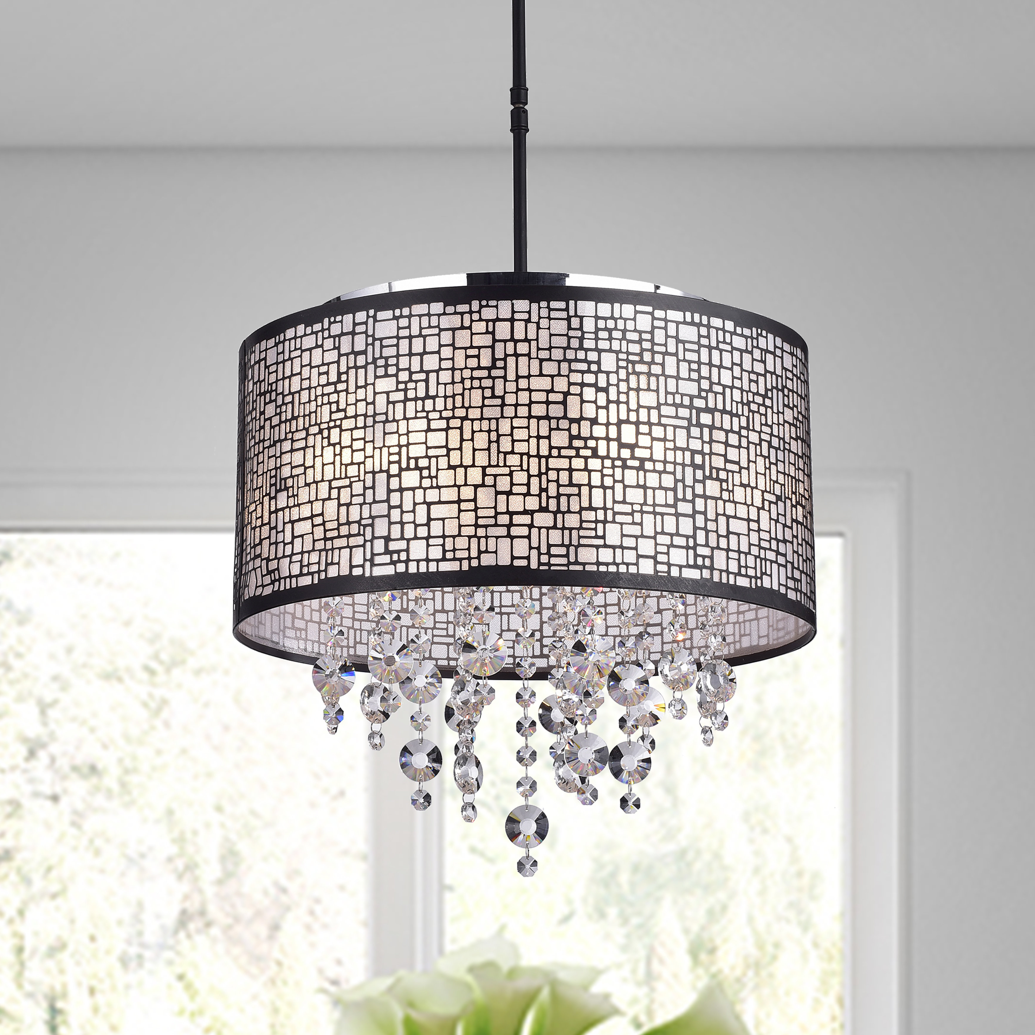 Emaria 4 Light Unique / Statement Chandeliers With 2019 Aikin 4 Light Drum Chandelier (View 11 of 25)