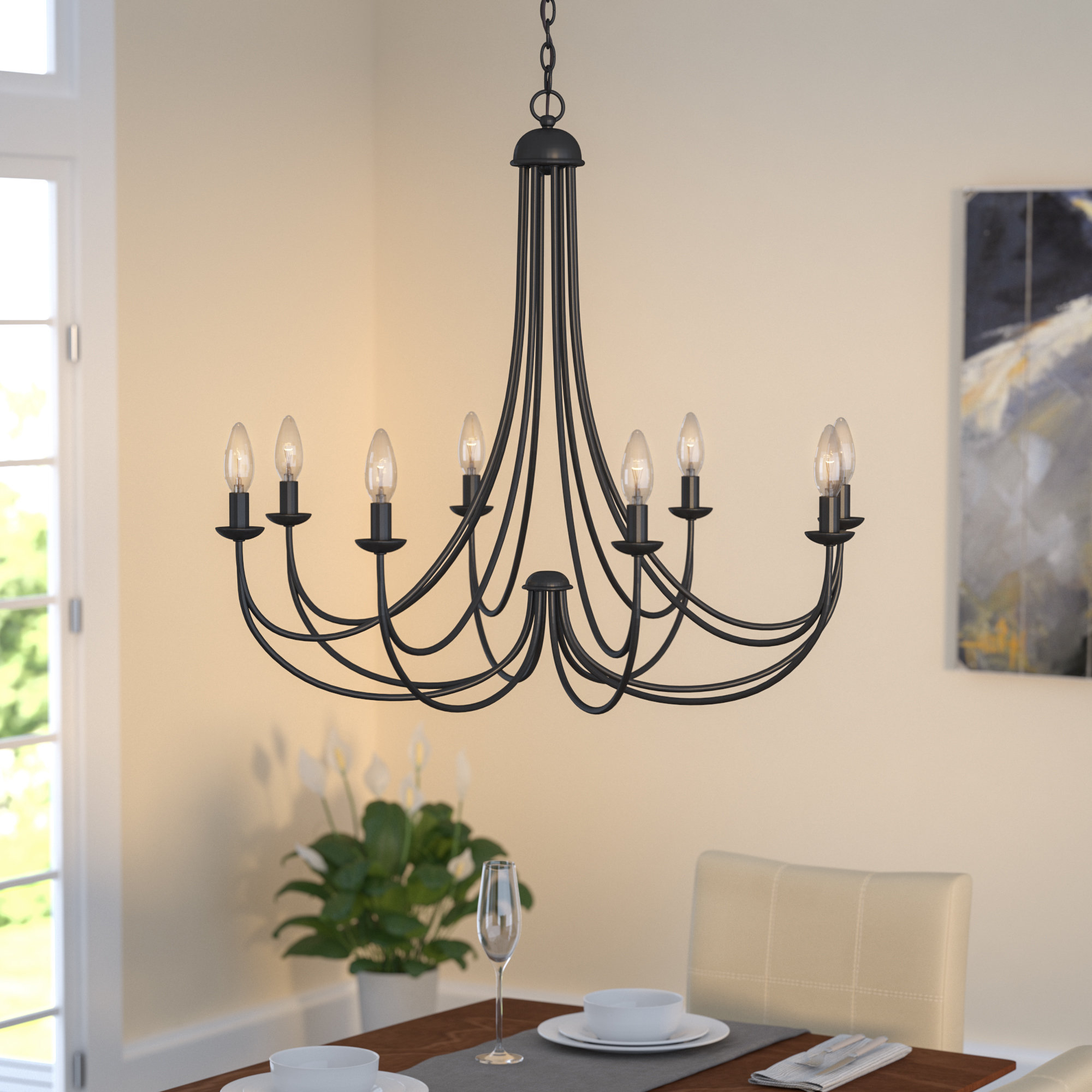 Emilia 8 Light Candle Style Chandelier In Most Up To Date Watford 9 Light Candle Style Chandeliers (View 14 of 25)
