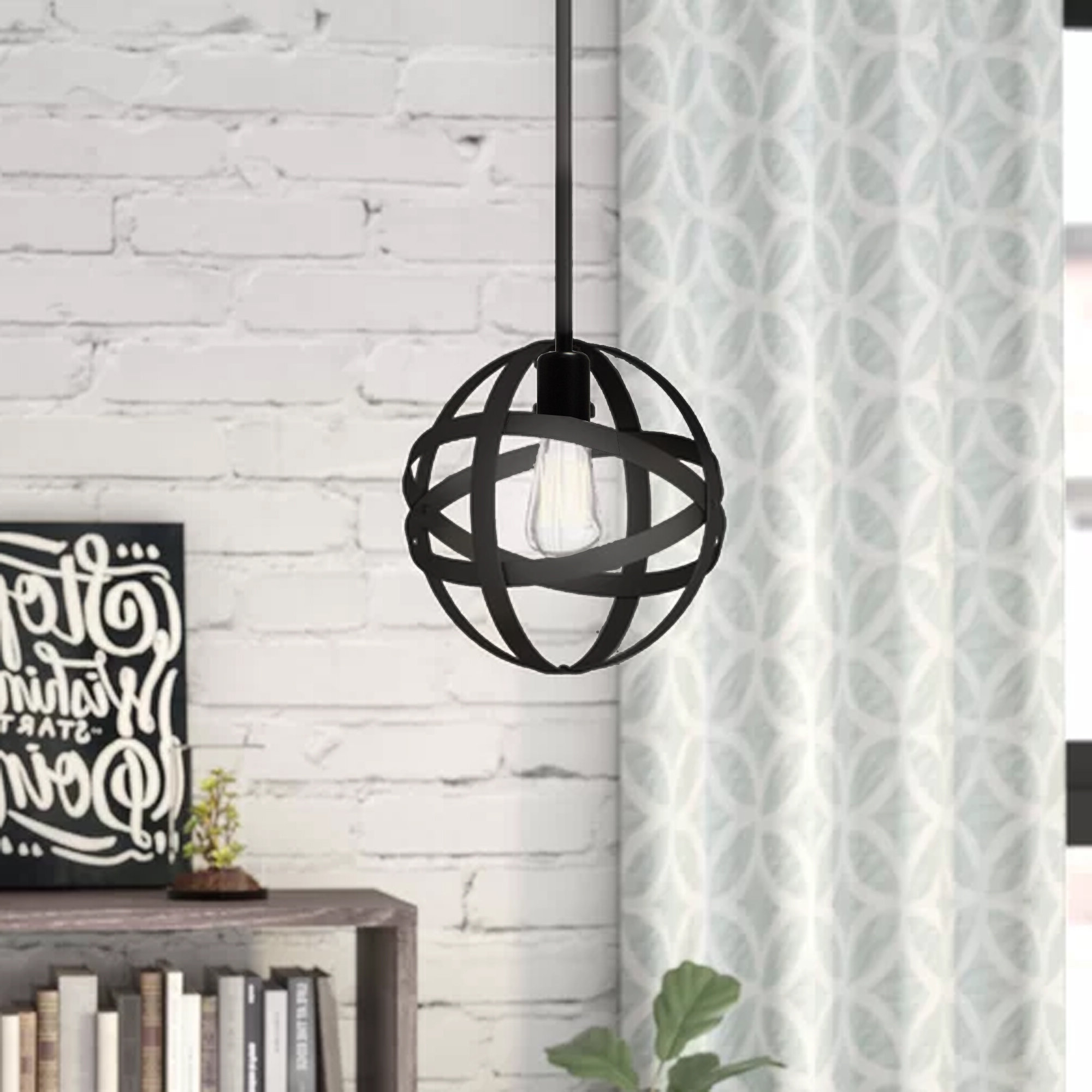 Enzo 1 Light Single Globe Pendant With Regard To Widely Used Kilby 1 Light Pendants (Gallery 7 of 25)