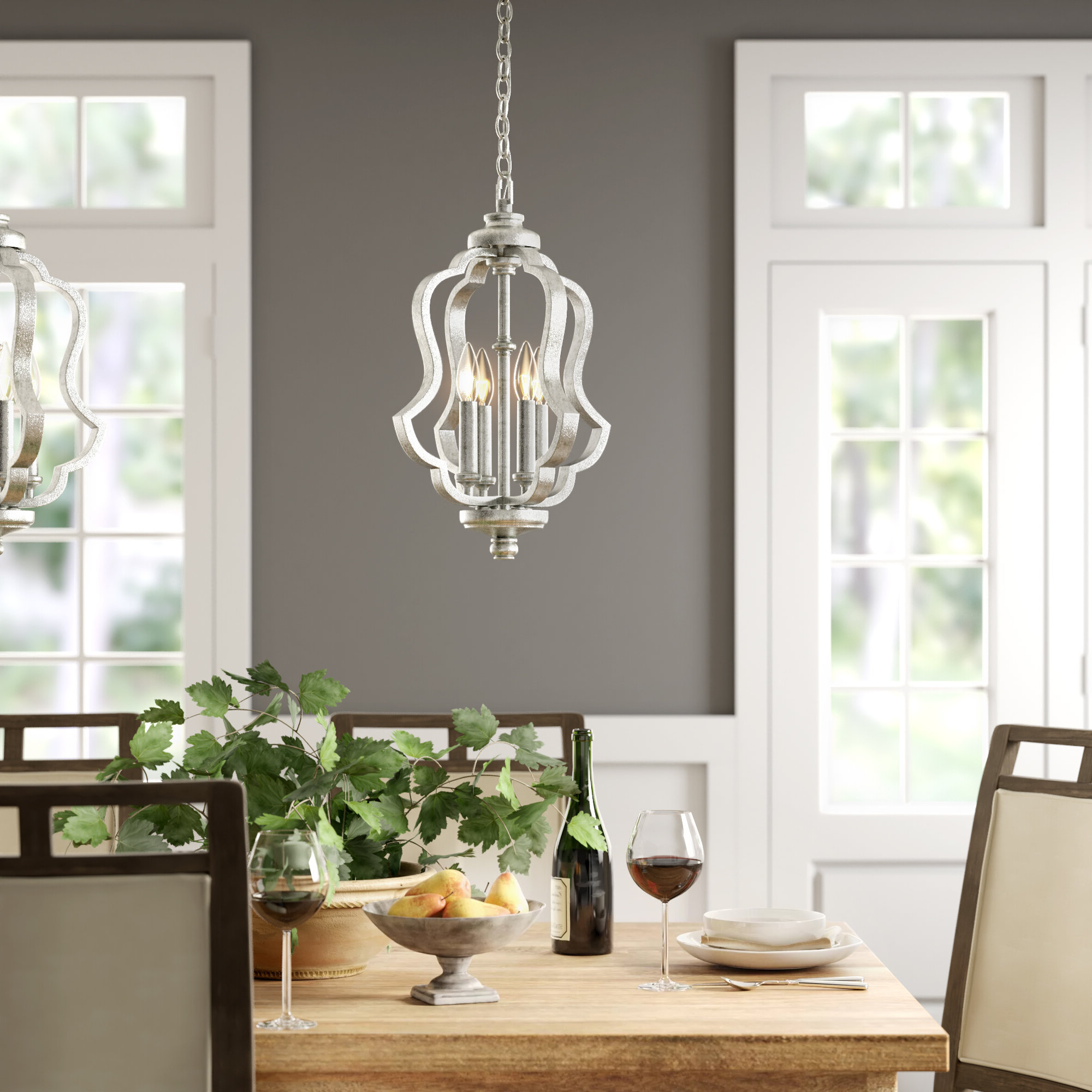 Erroll 4-Light Lantern Pendant with regard to Current Armande 4-Light Lantern Drum Pendants
