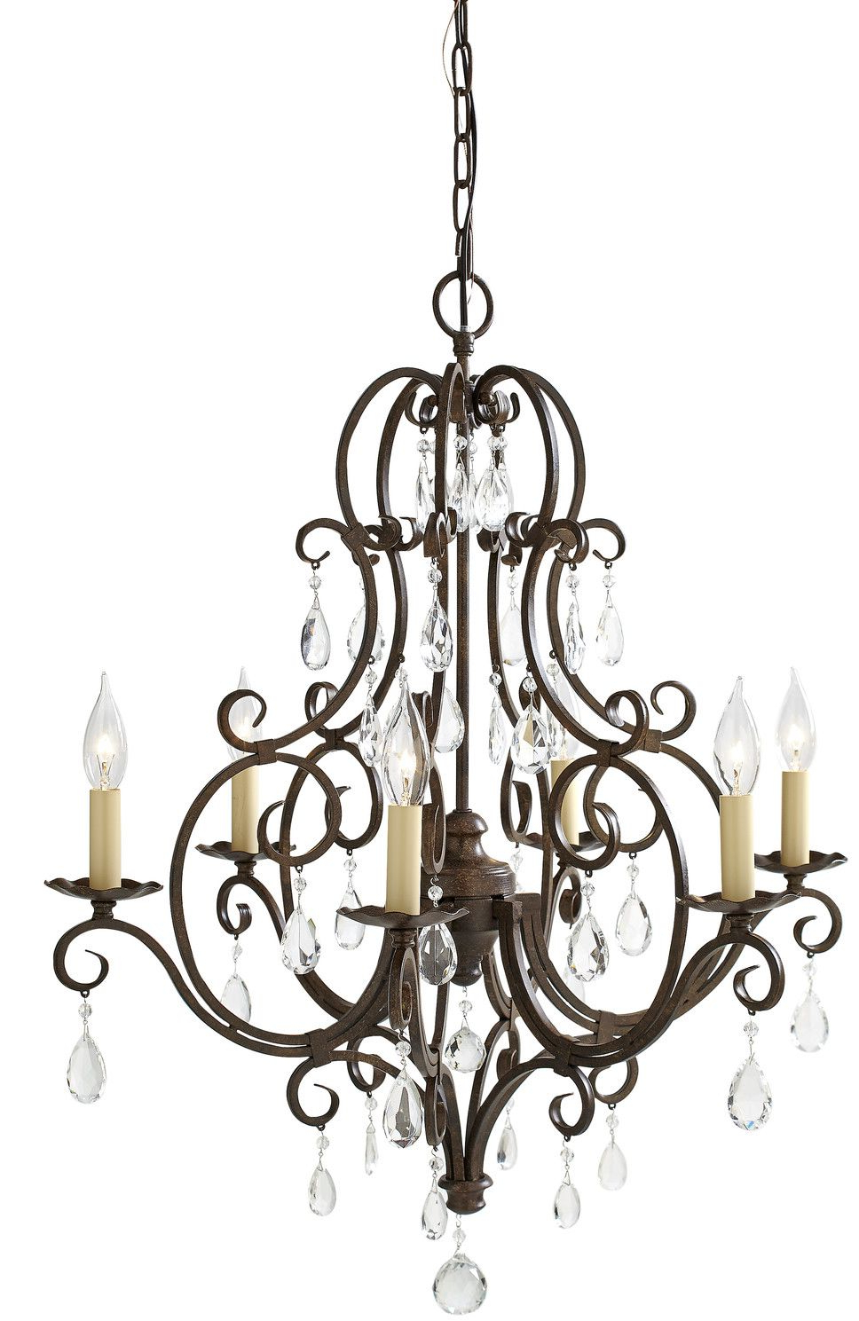 Esse 6 Light Candle Style Chandelier In  (View 12 of 25)